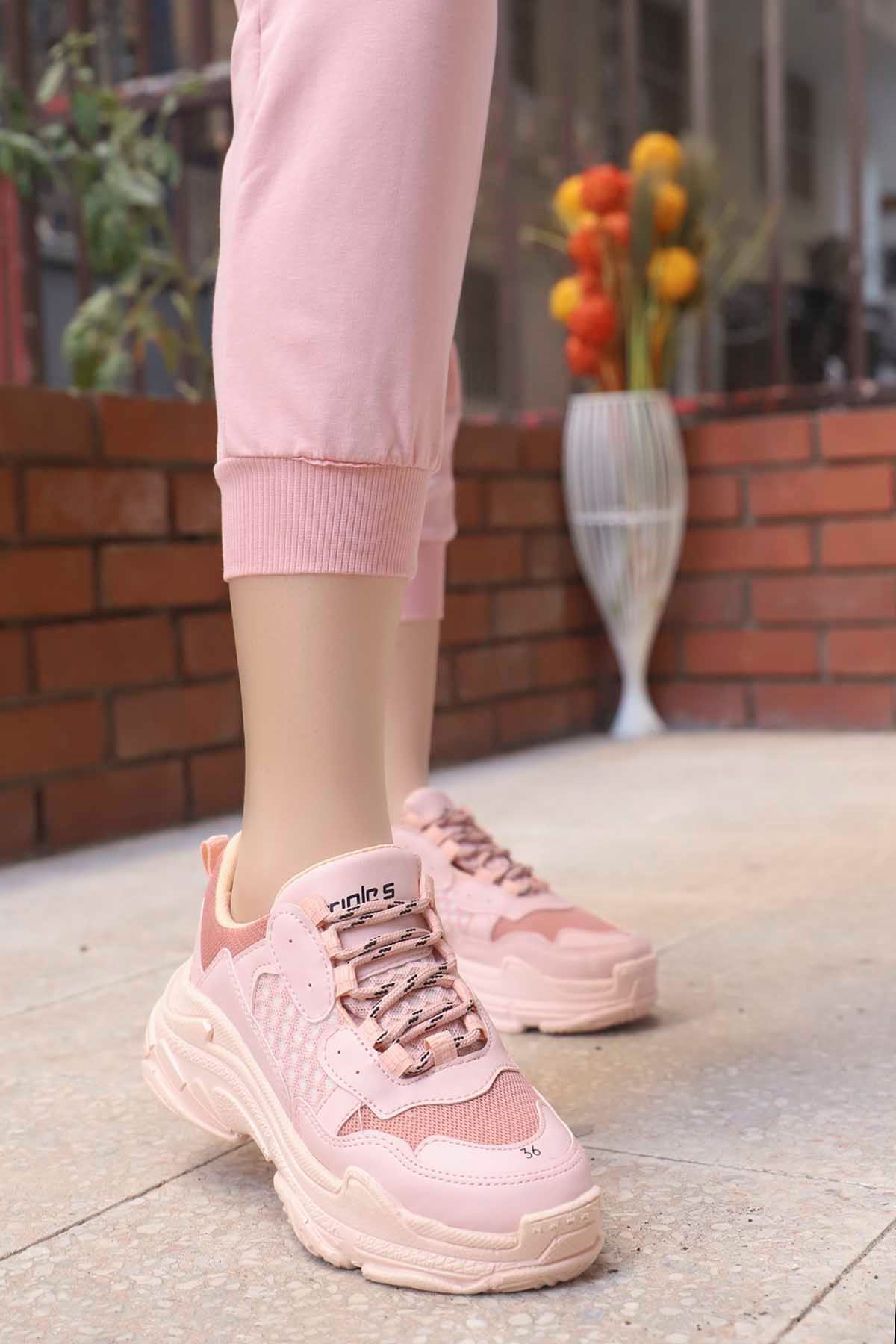 mami-BG Spor Ayakkabı Pudra
