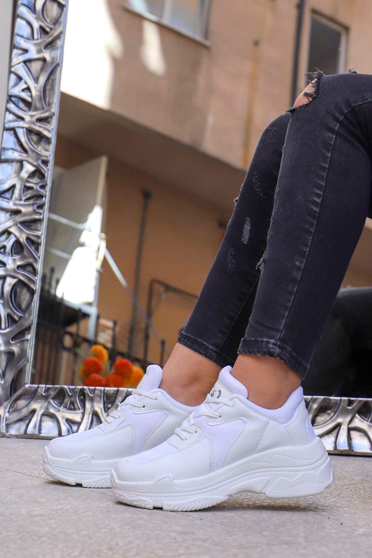 Snz-701 Tabanlı Spor Ayakkabı Beyaz Anorak