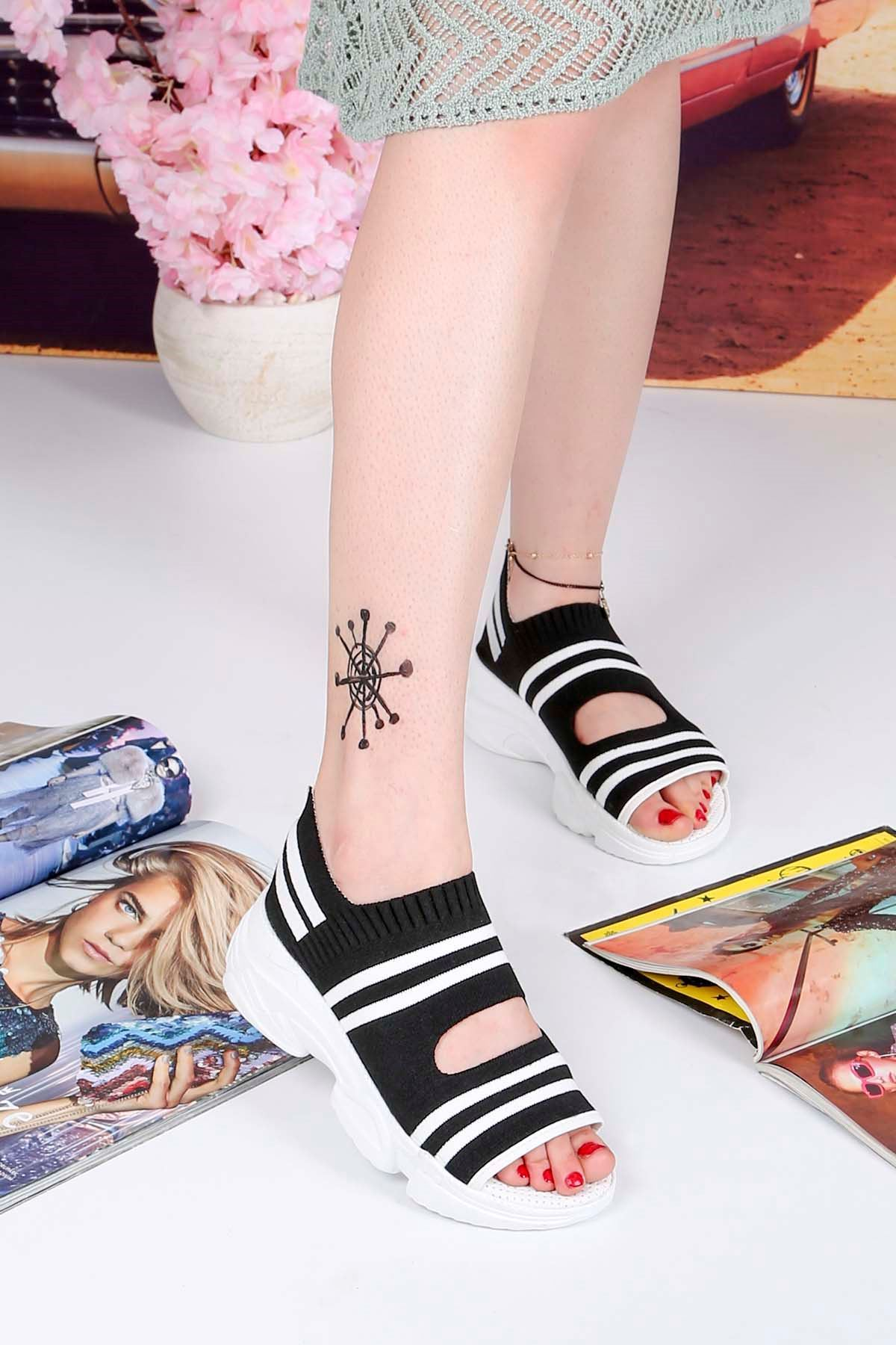 Brk-101 Triko Sandalet Siyah