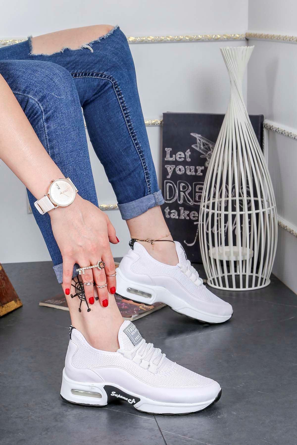 Frm-303 Air Taban Spor Ayakkabı Beyaz Anorak