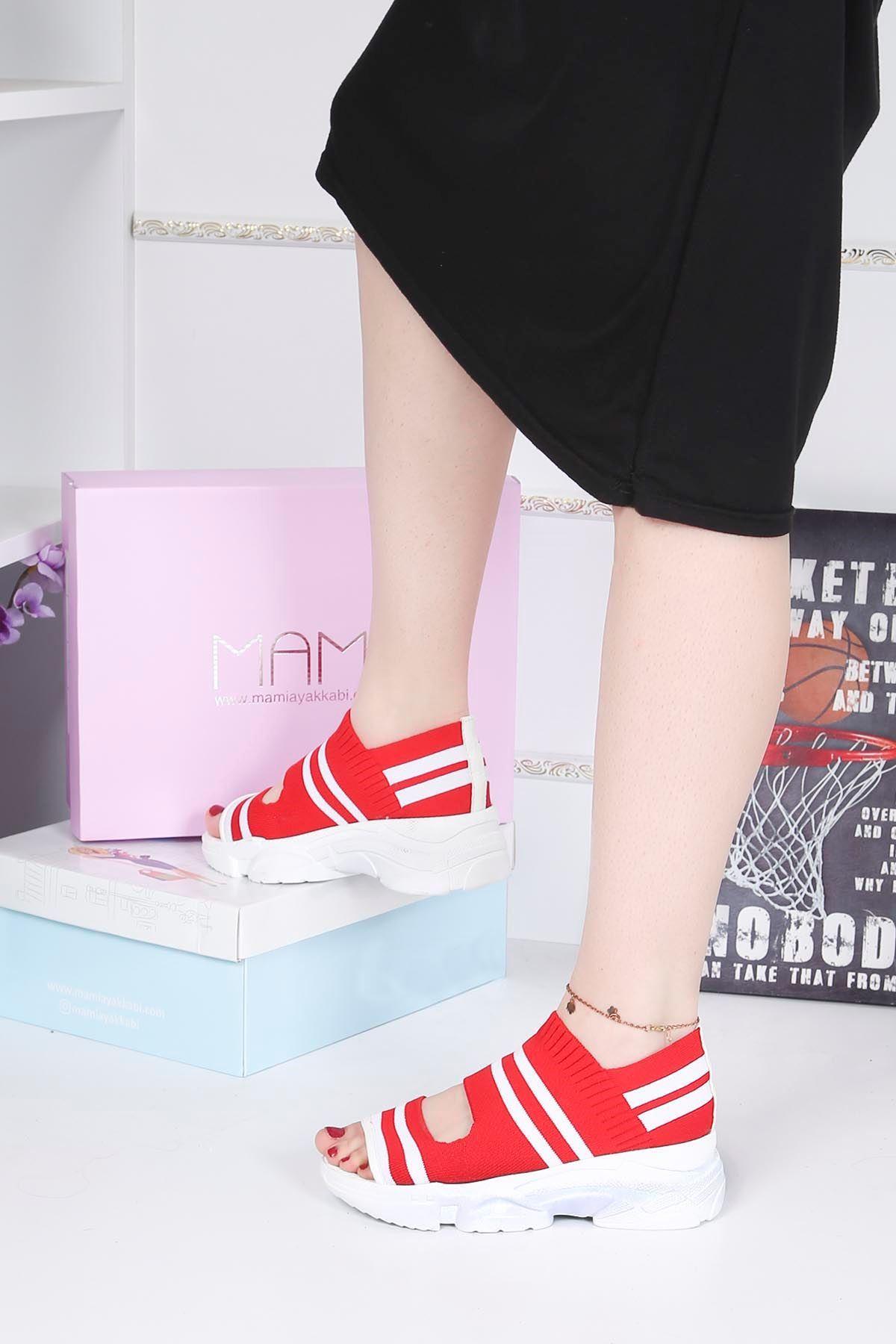 Brk-101 Triko Sandalet Kırmızı