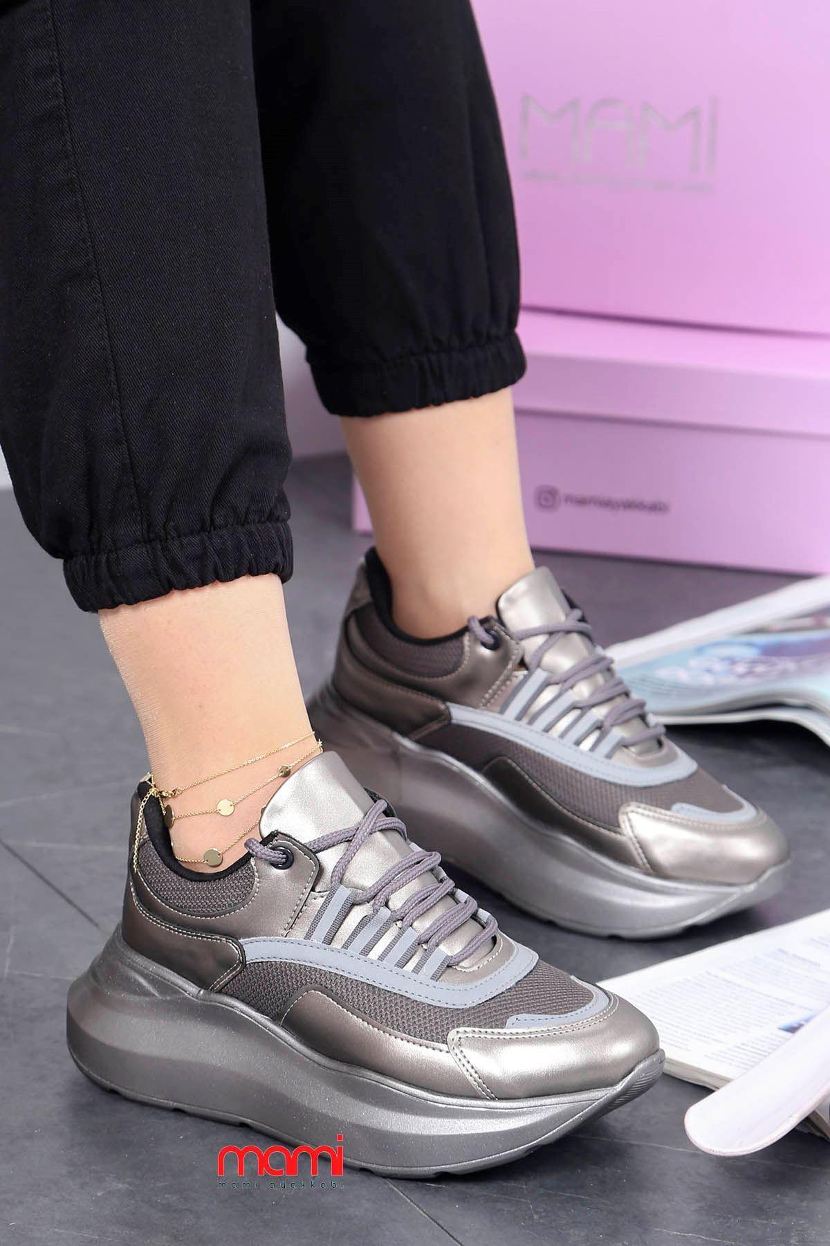 Mrt-700 Spor Ayakkabı Balon Taban Platin Deri