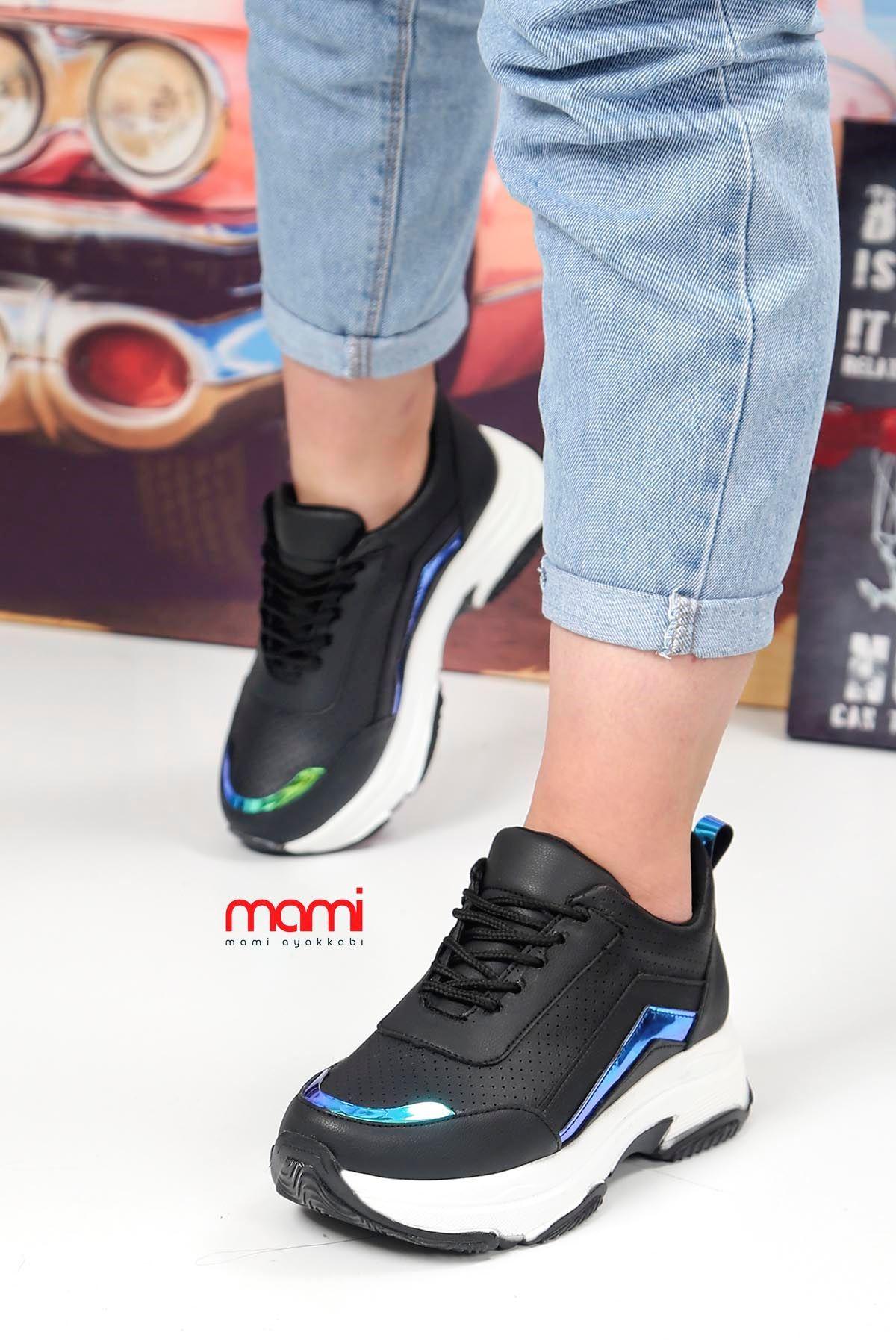Frm-5386 Tabanlı Spor Ayakkabı Siyah Deri