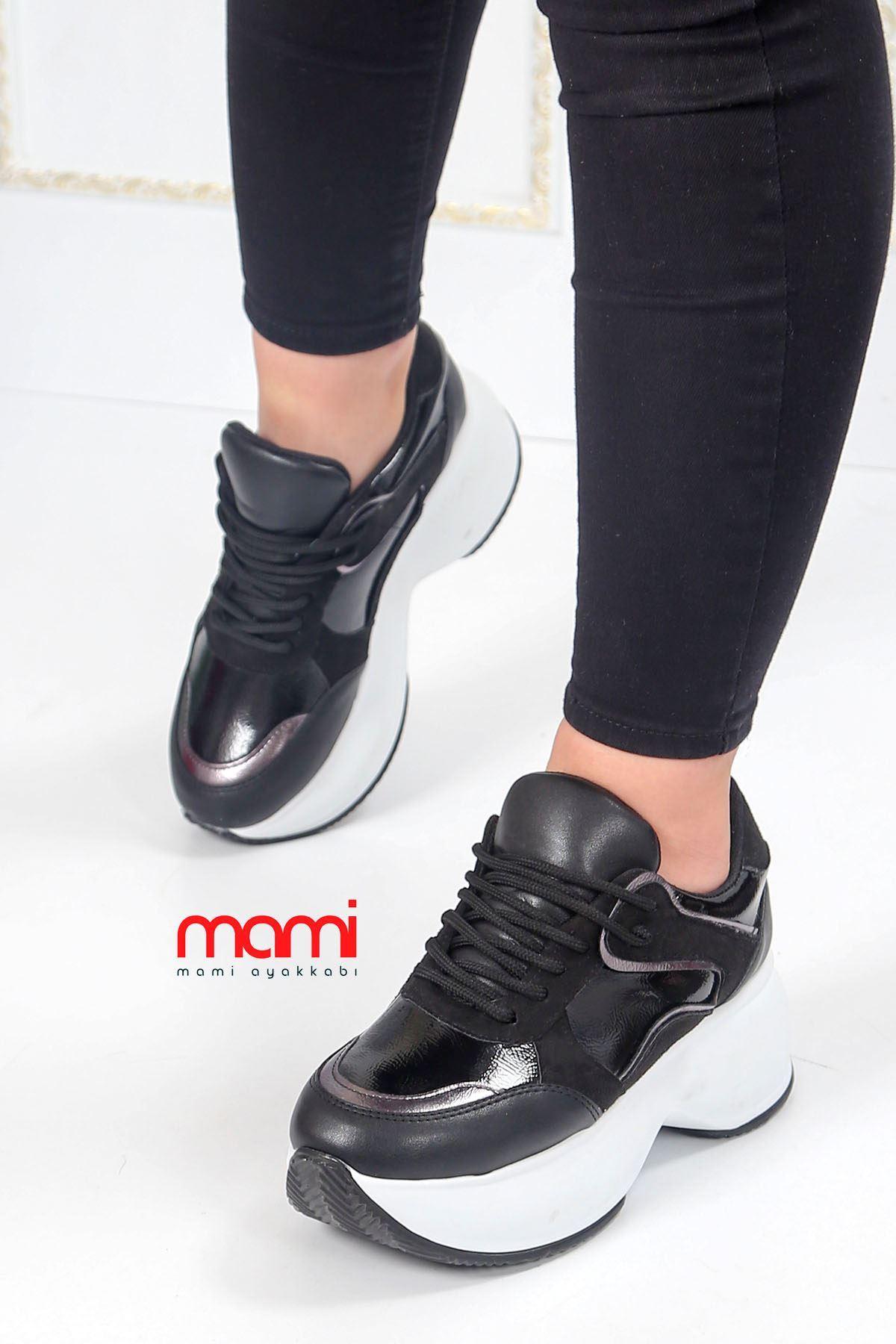 Gz-201 Tabanlı Spor Ayakkabı Siyah Deri