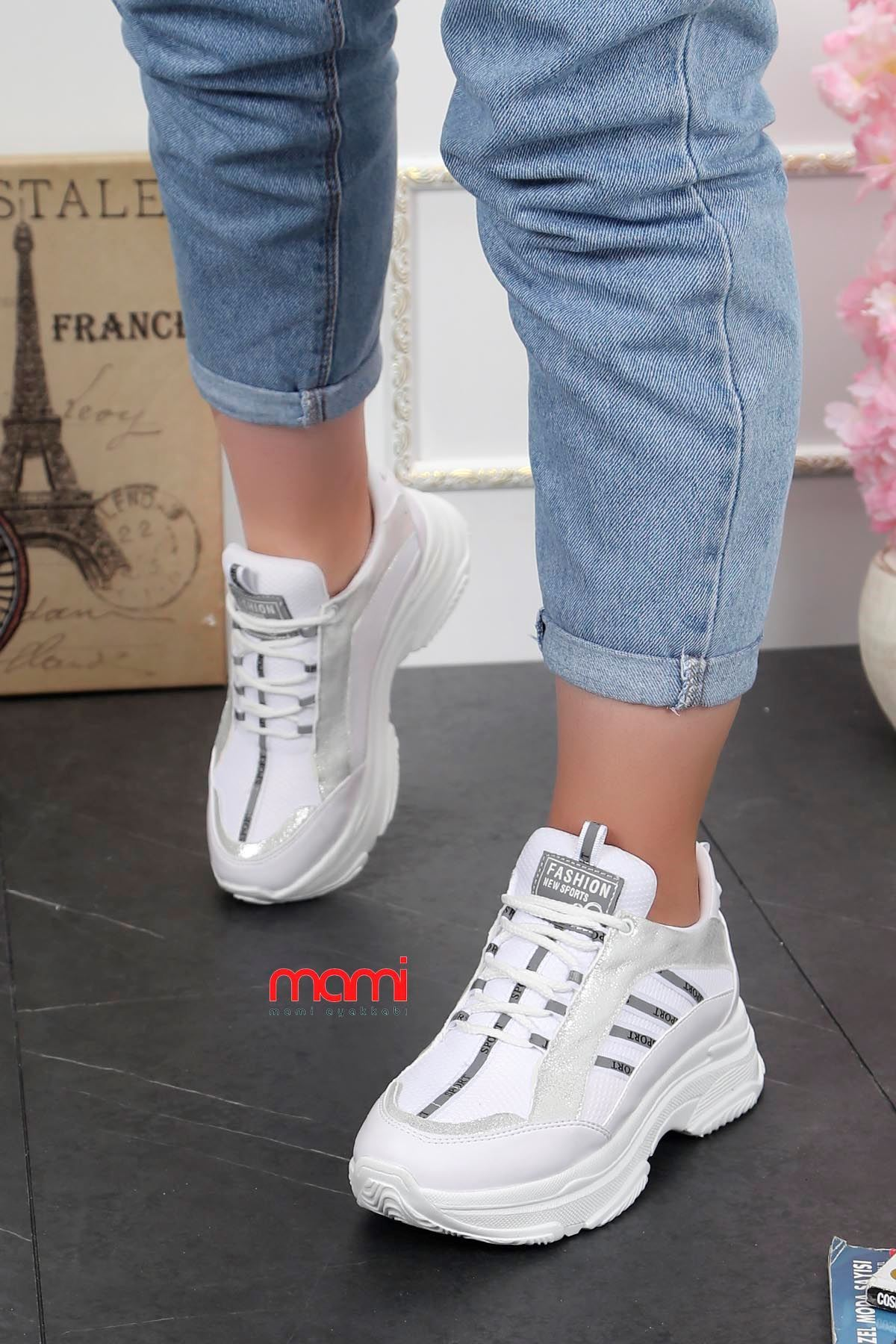 Frm-960 Sport Bağcıklı Ayakkabı Beyaz