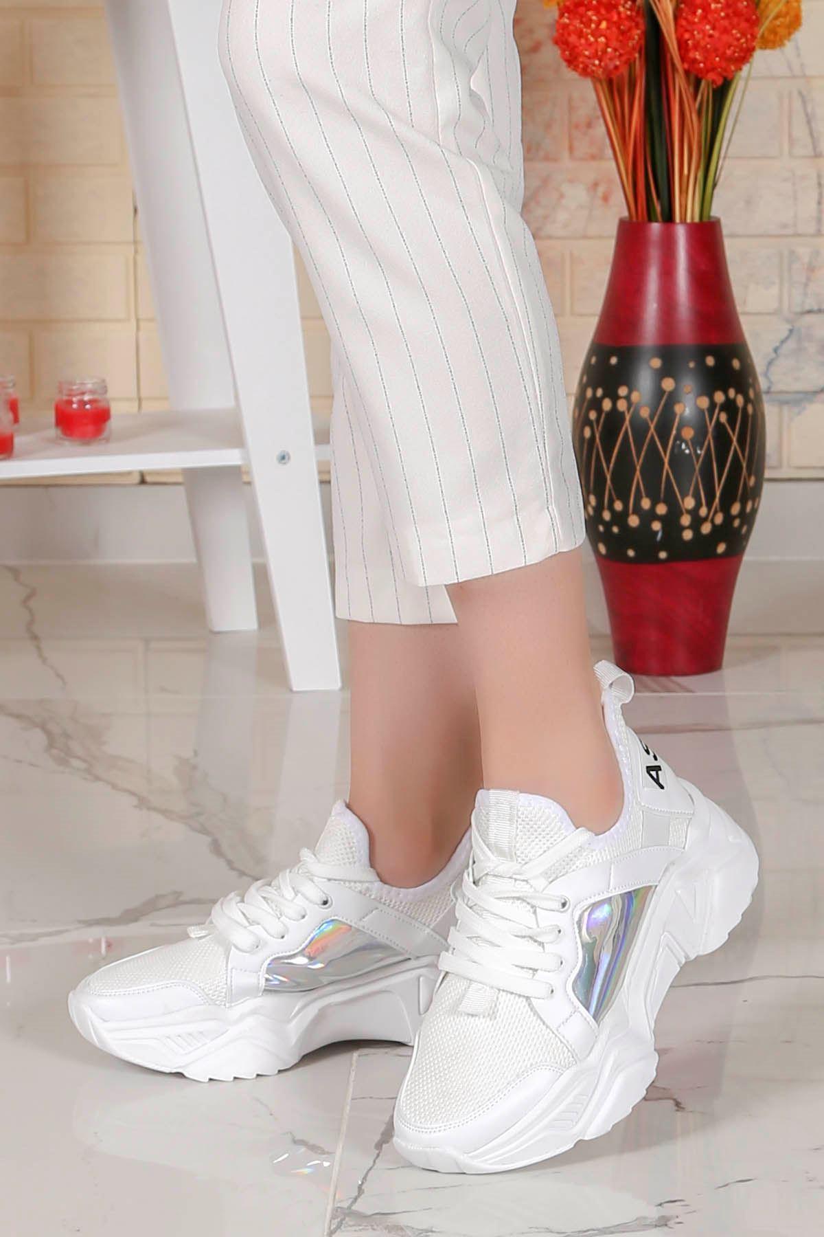 Örn-200 New Fashion  Beyaz Spor Hologram
