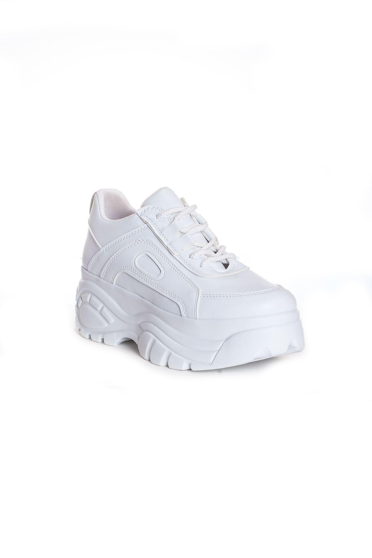 CK-107 Beyaz Deri Spor Ayakkabı