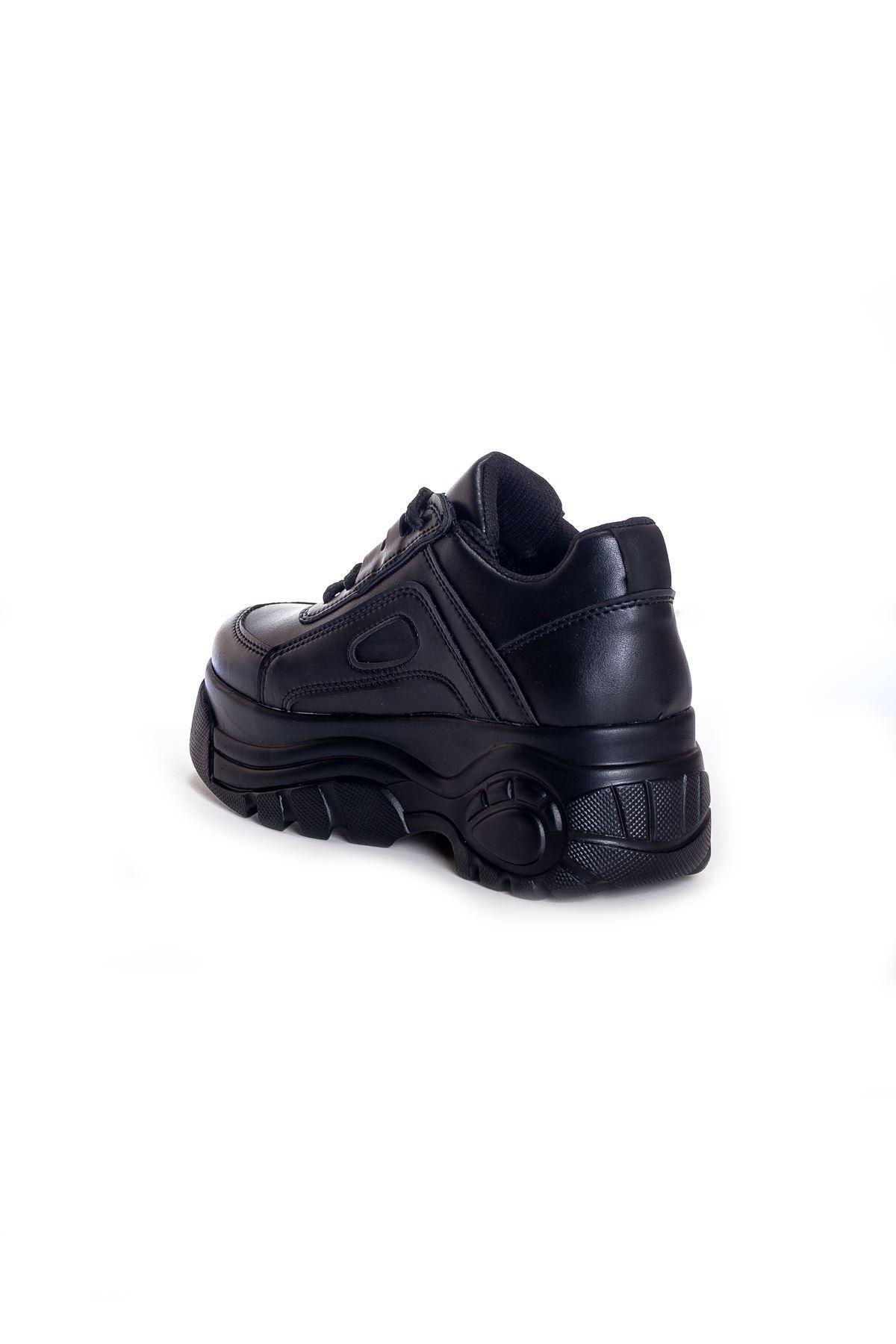 Ck-107 Siyah Deri Spor Ayakkabı