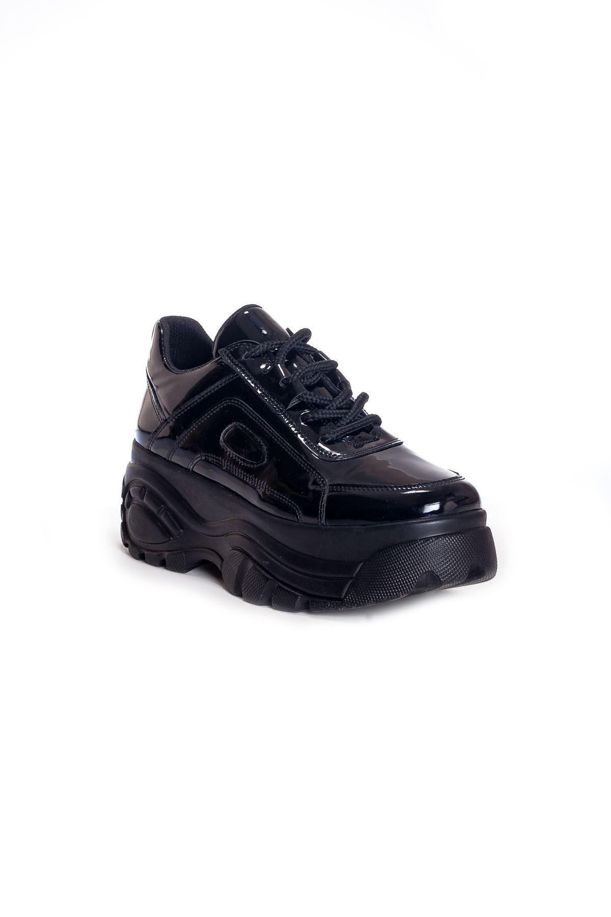 Ck-107 Siyah Rugan Spor Ayakkabı