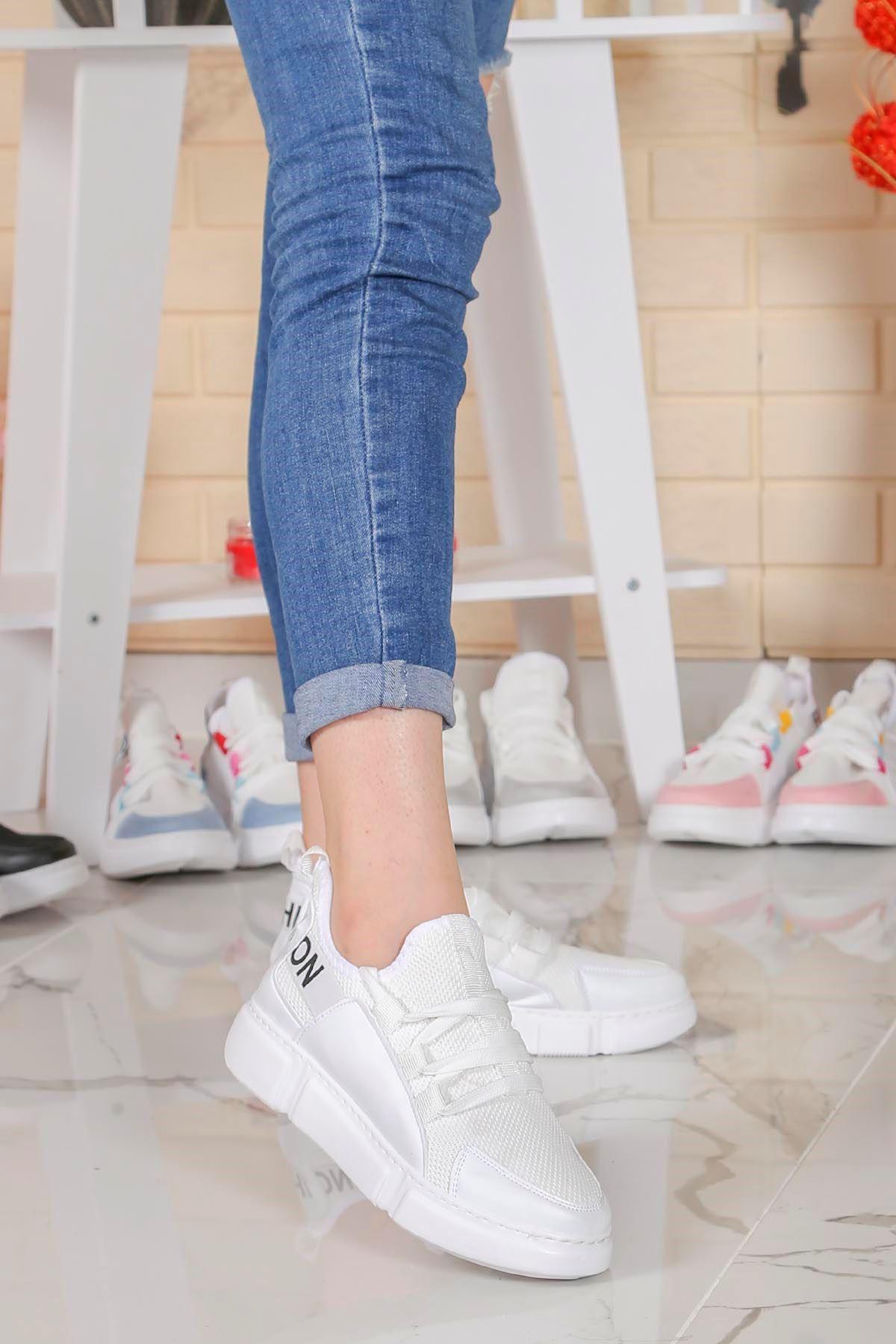 Örn-300 Beyaz Fashion Spor Ayakkabı