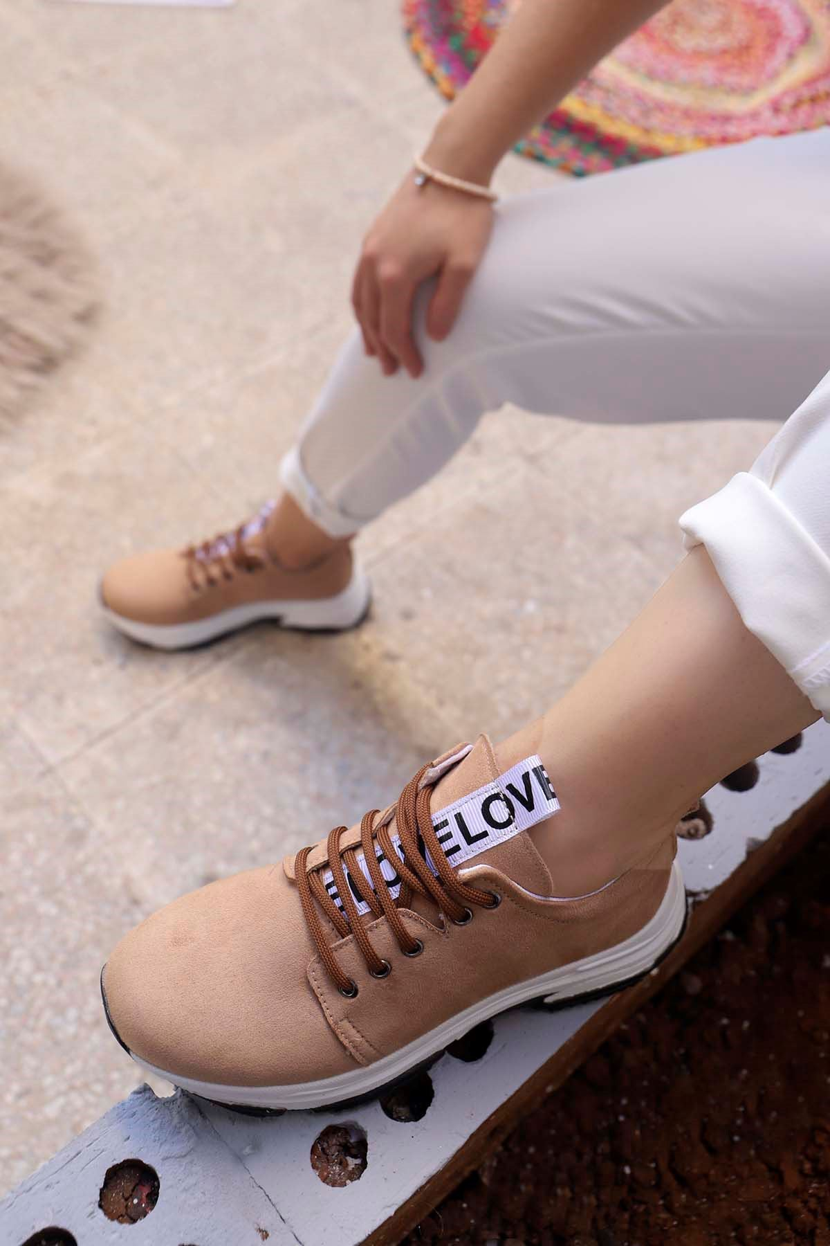 Frm-501 Love Spor Ayakkabı vizon Süet