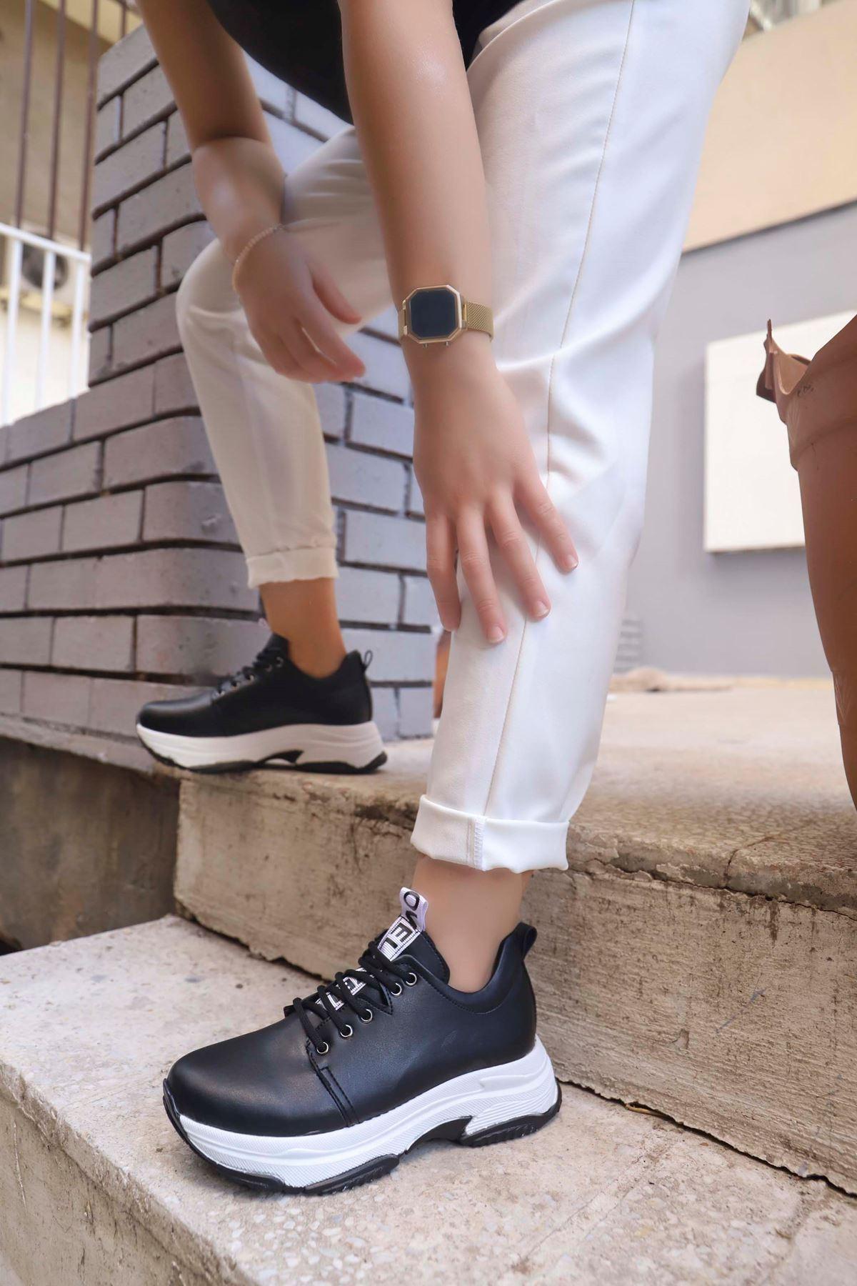 Frm-501 Love Spor Ayakkabı Siyah Deri