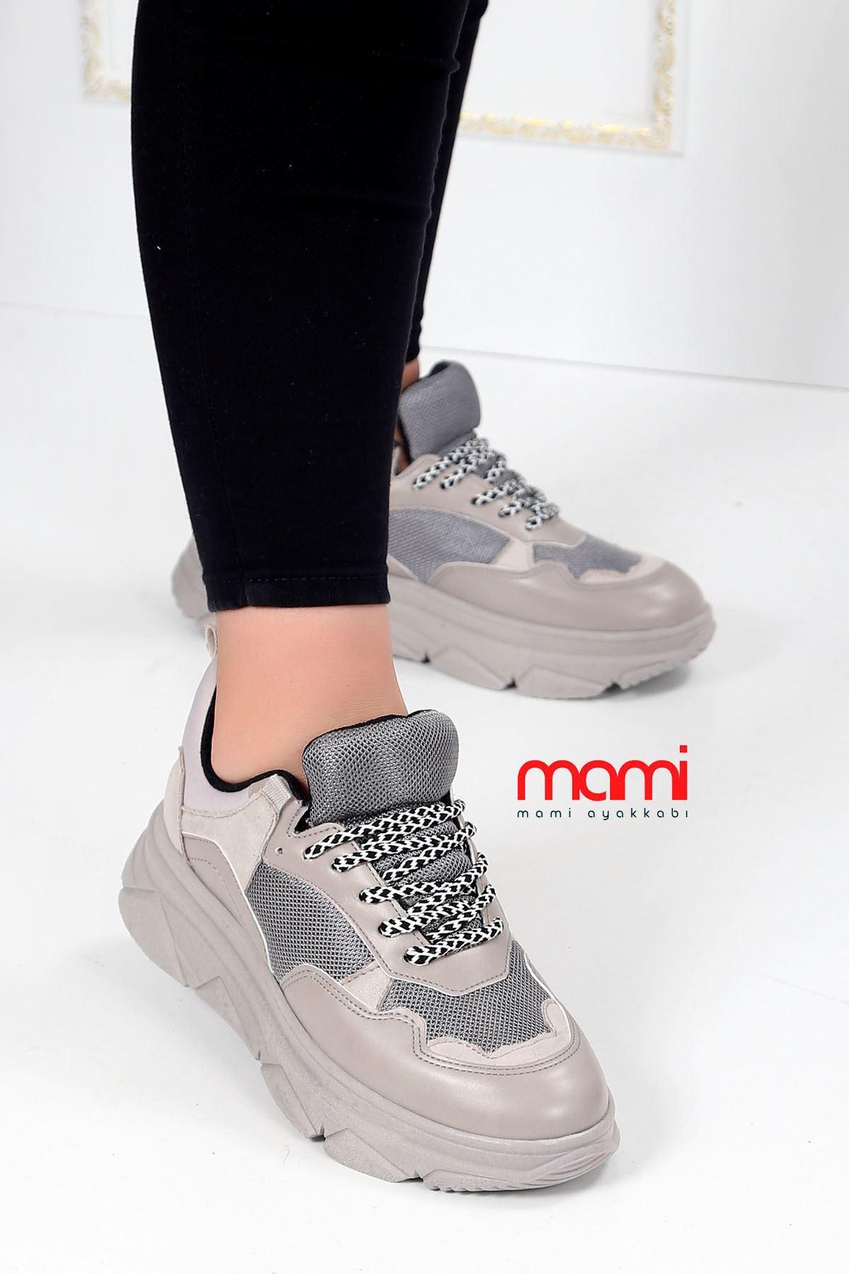 Mk-700 Spor Ayakkabı Triko Anorak Gri