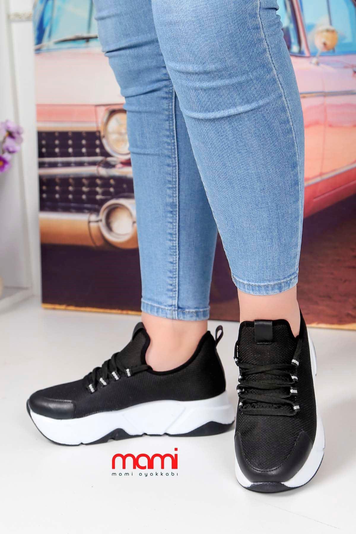 Rsl-100 Triko Spor Ayakkabı Siyah Anorak Beyaz Taban