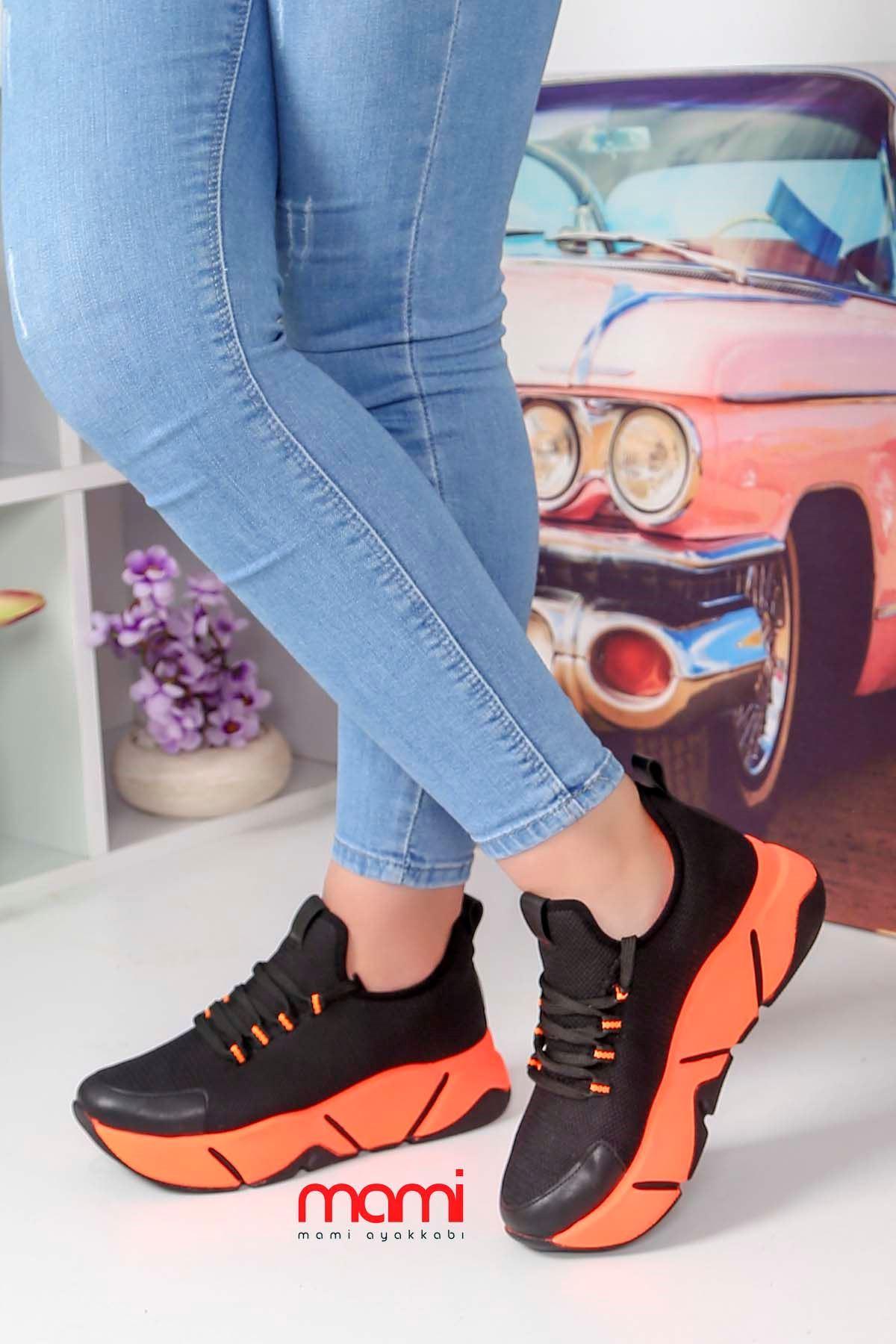 Rsl-100 Triko Spor Ayakkabı Siyah Anorak Turuncu Taban