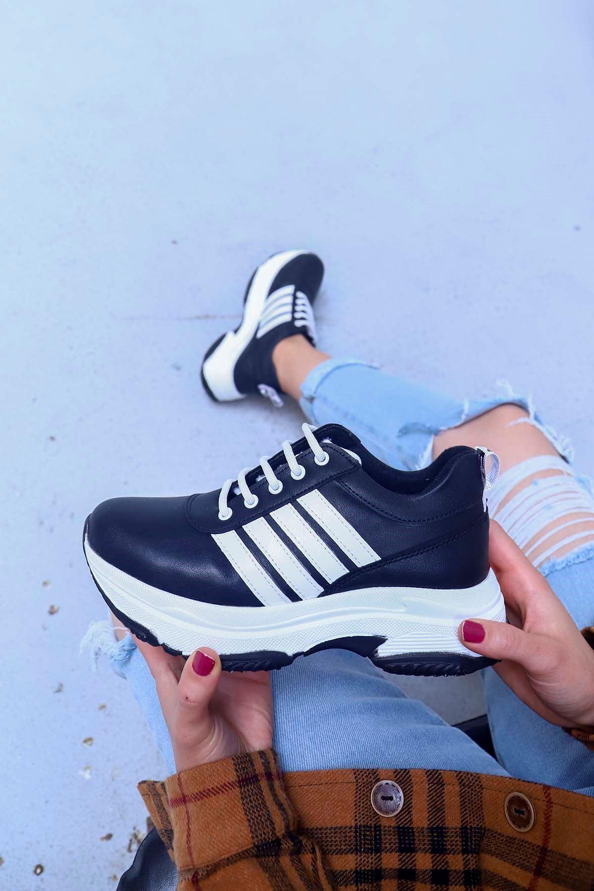 Helsinki Spor Ayakkabı Siyah Deri