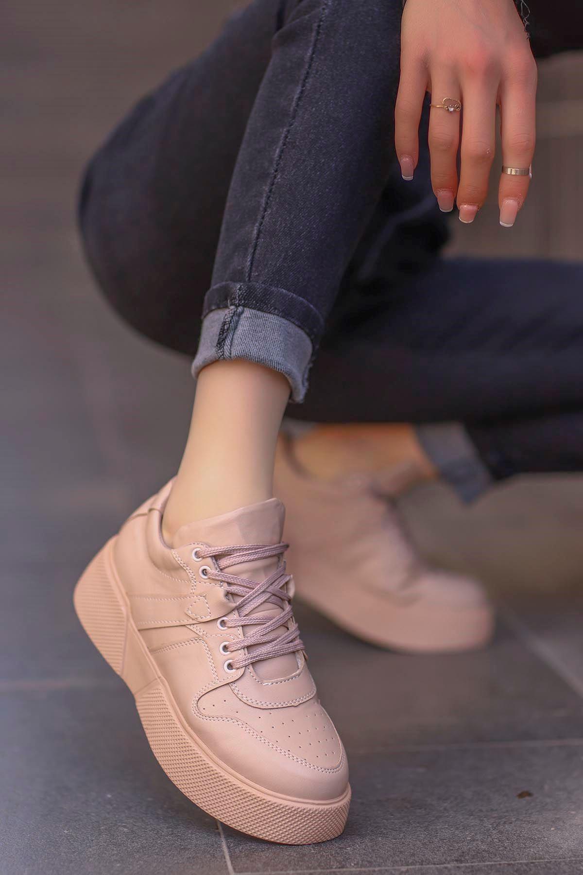 frm-021 Tabanlı spor Ayakkabı Nut Deri