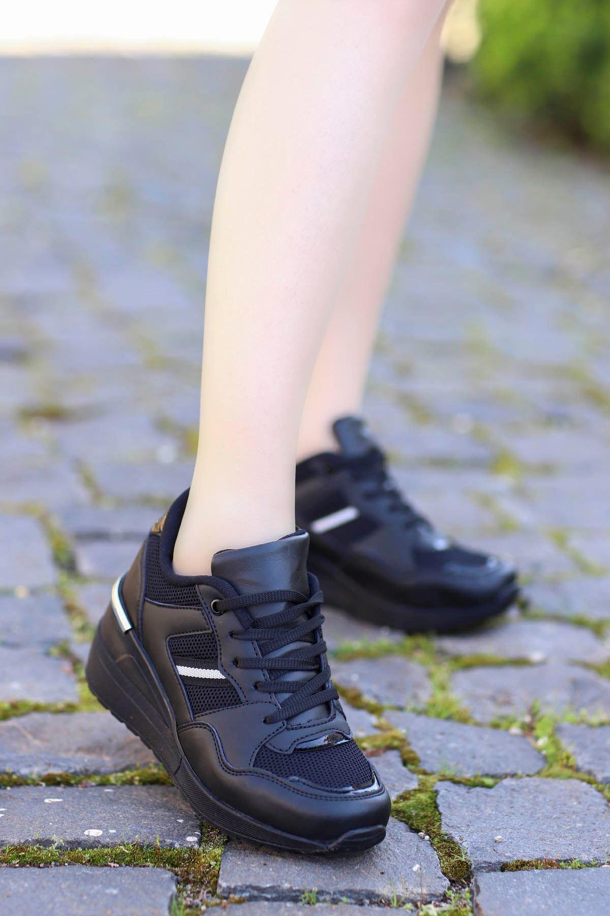Tokyo - Siyah Deri Siyah Taban