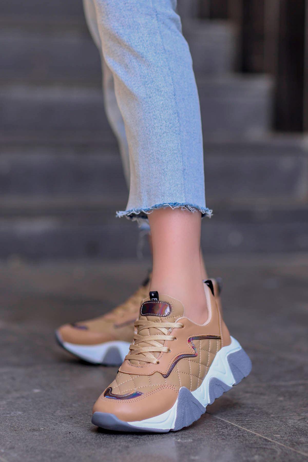 Rio Tabanlı Spor Ayakkabı Nut Deri