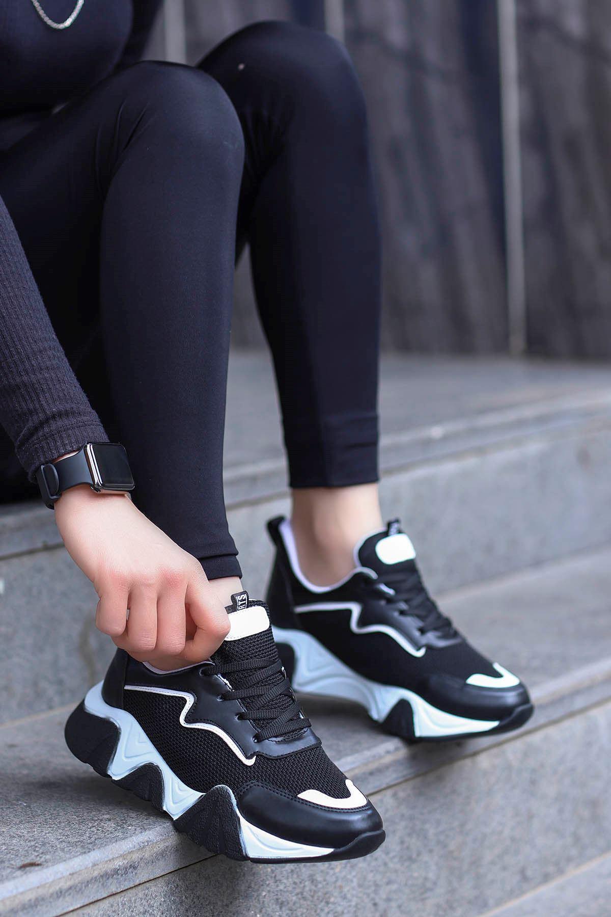 Steel Tabanlı Spor Ayakkabı Siyah Anorak