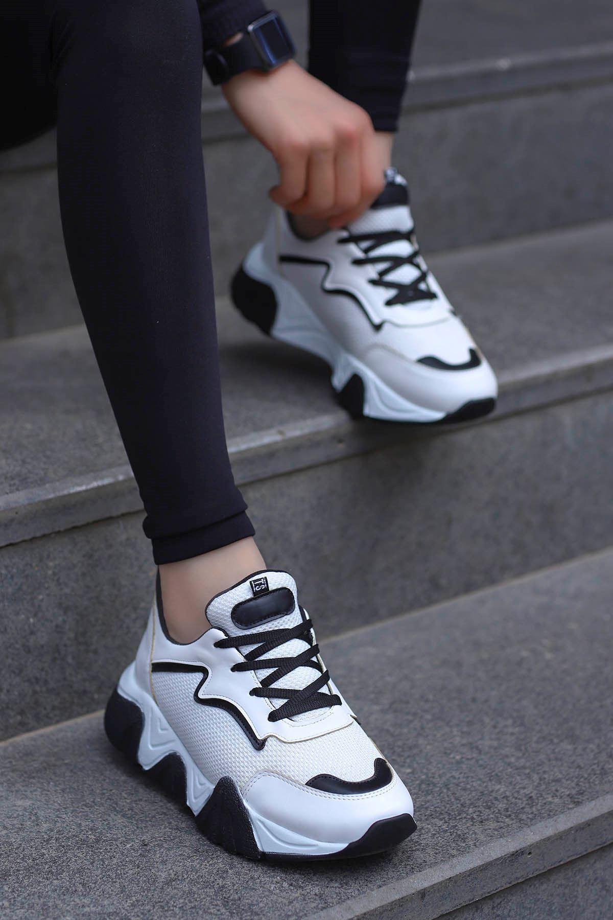 Steel Tabanlı Spor Ayakkabı Beyaz Anorak