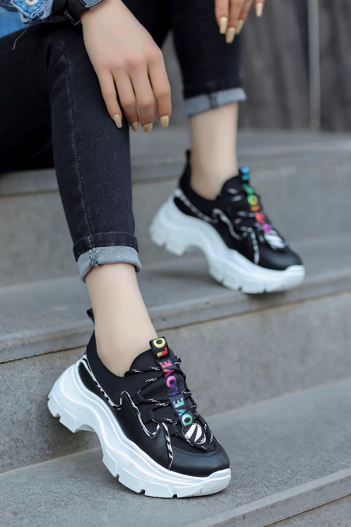 Jennifer Love Tabanlı Spor Ayakkabı Siyah