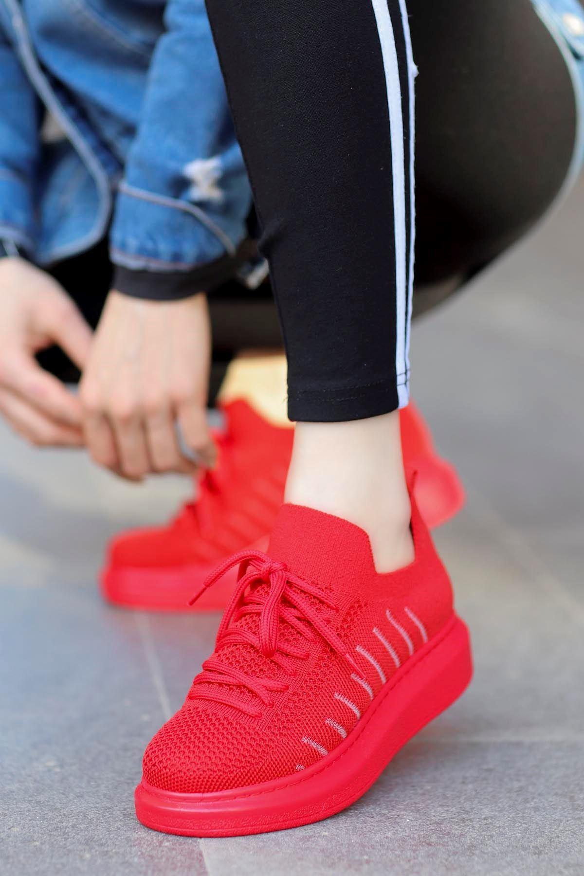 Atlas  Triko Spor Ayakkabı Kırmızı