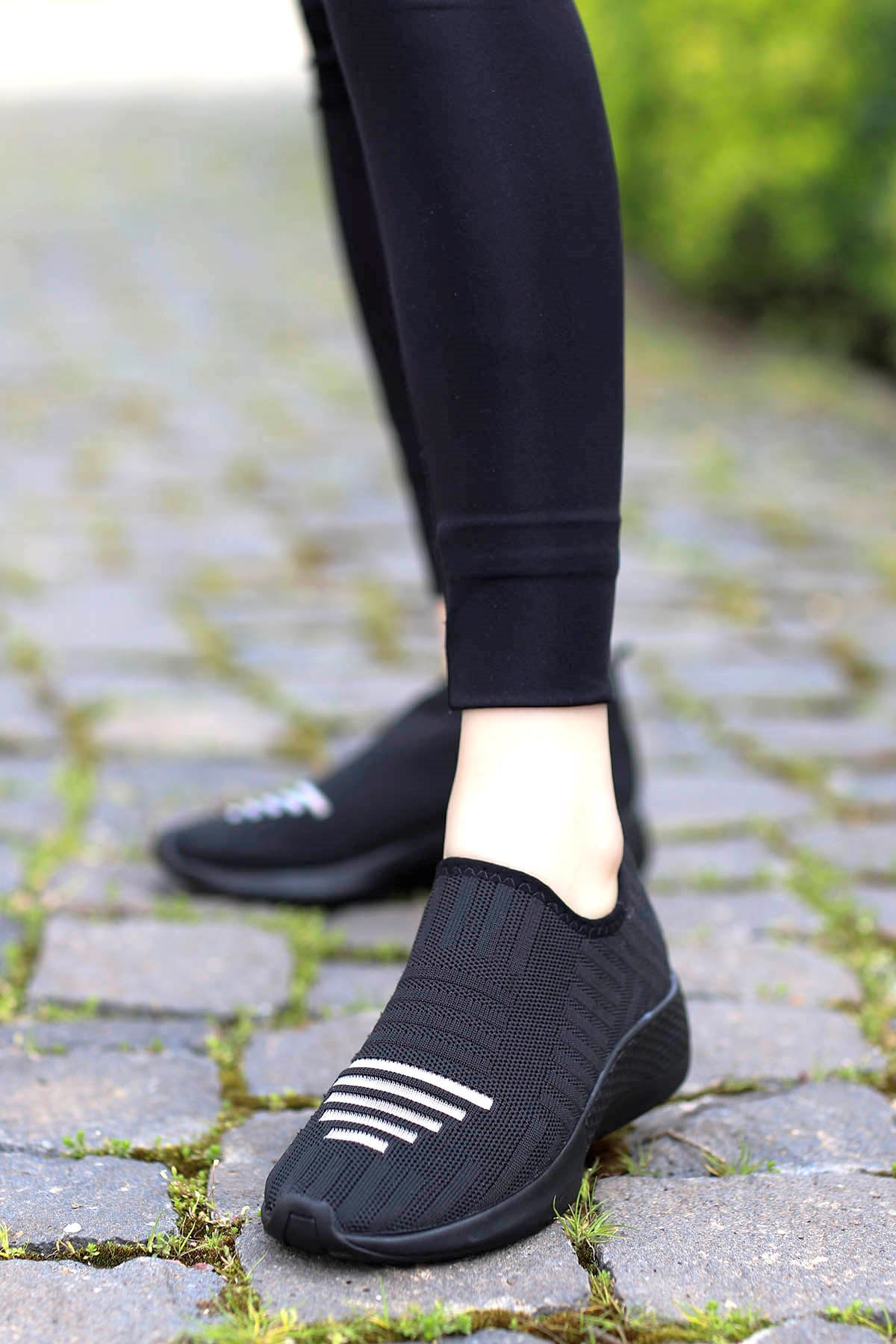 Yummy Triko Spor Ayakkabı Siyah