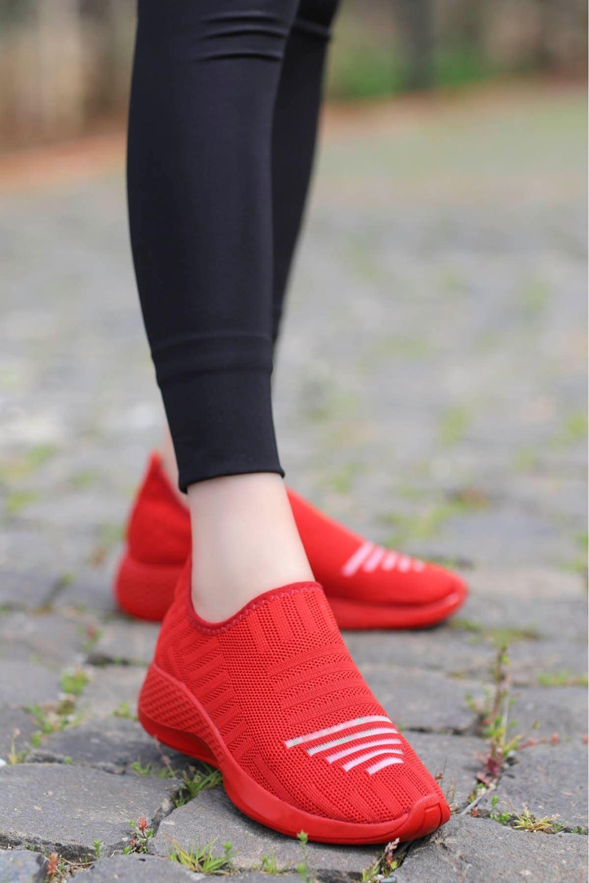 Yummy Triko Spor Ayakkabı Kırmızı