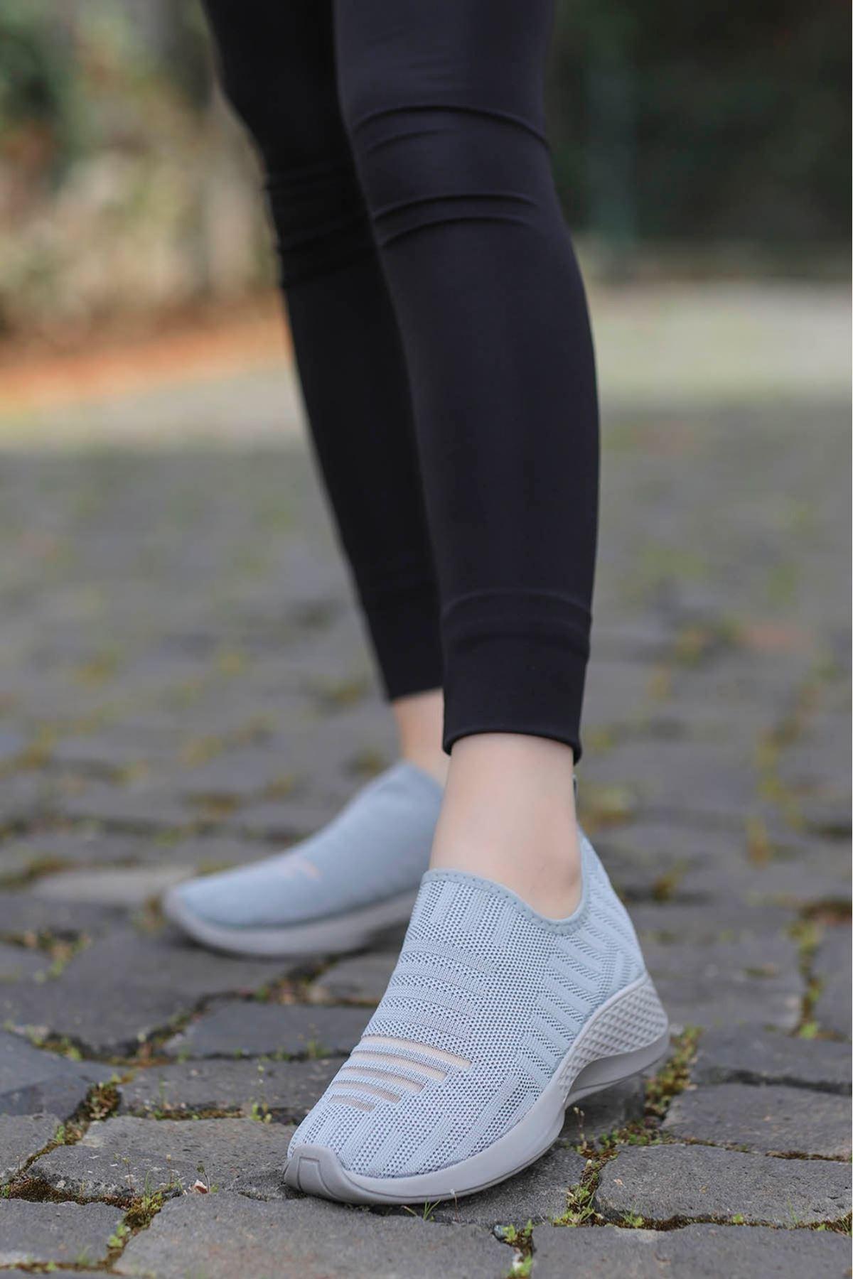 Yummy Triko Spor Ayakkabı Gri