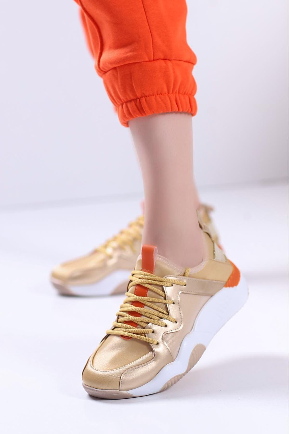 Perla Spor Ayakkabı Gold