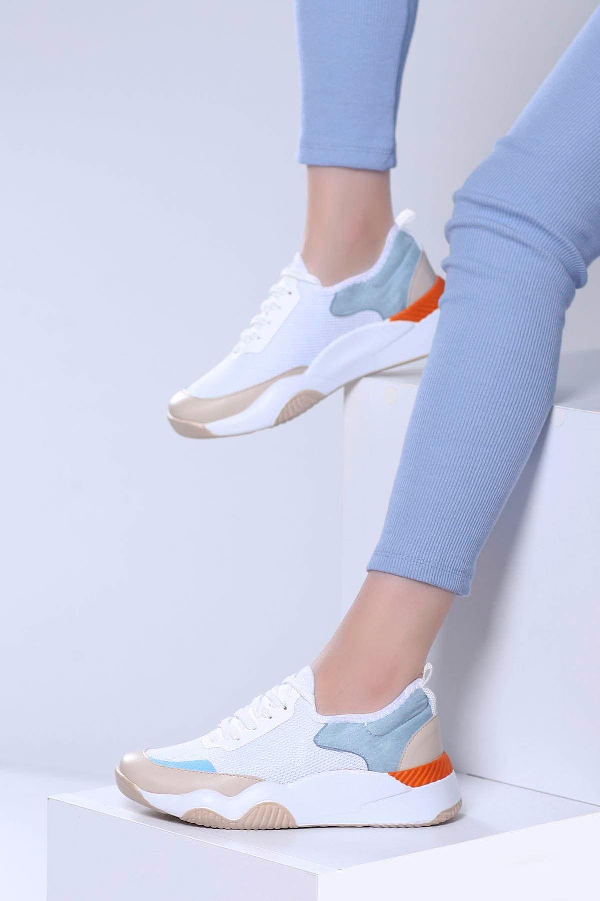 Fiesta Spor Ayakkabı Beyaz Vizon
