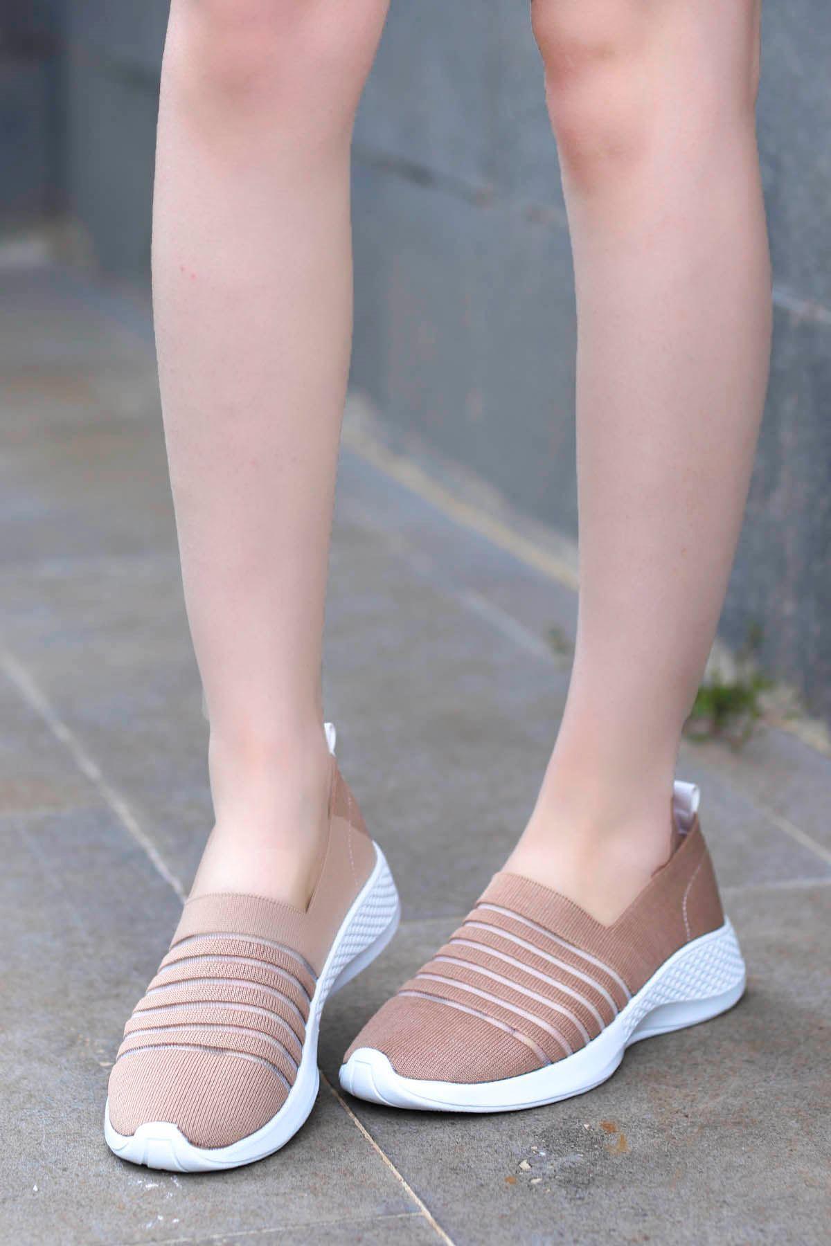 Mira Triko Spor Ayakkabı Nut