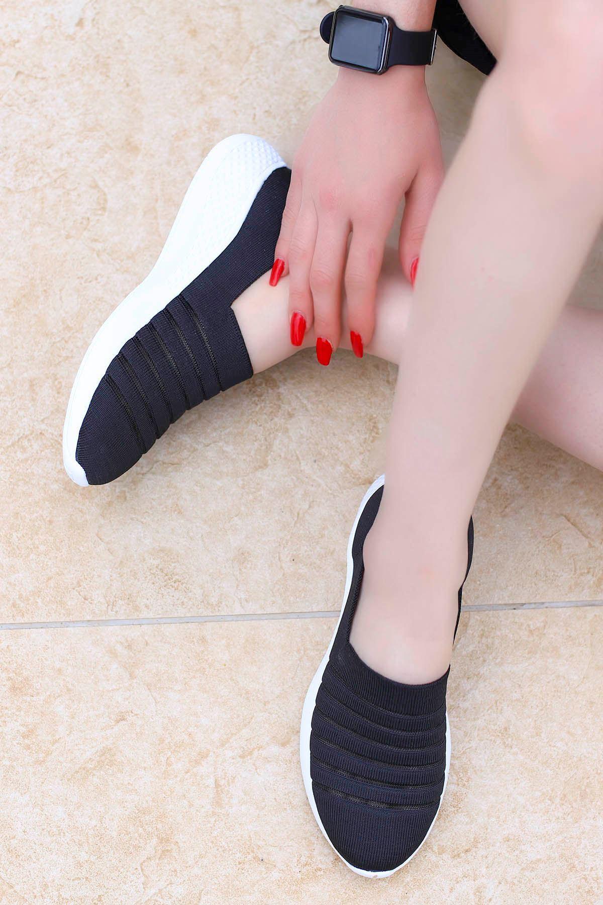 Mira Triko Spor Ayakkabı Siyah