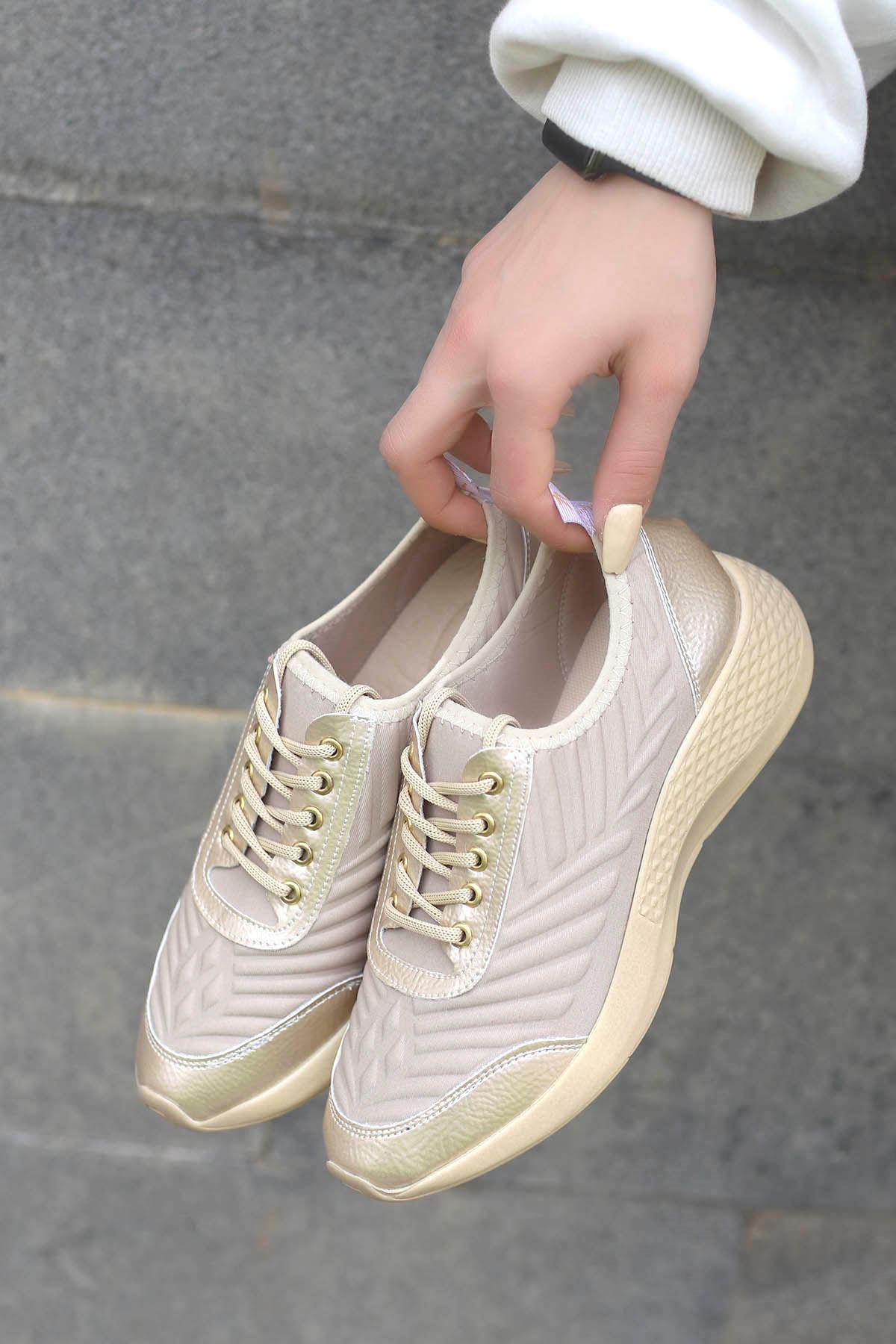 Amber Triko Spor Ayakkabı Nut