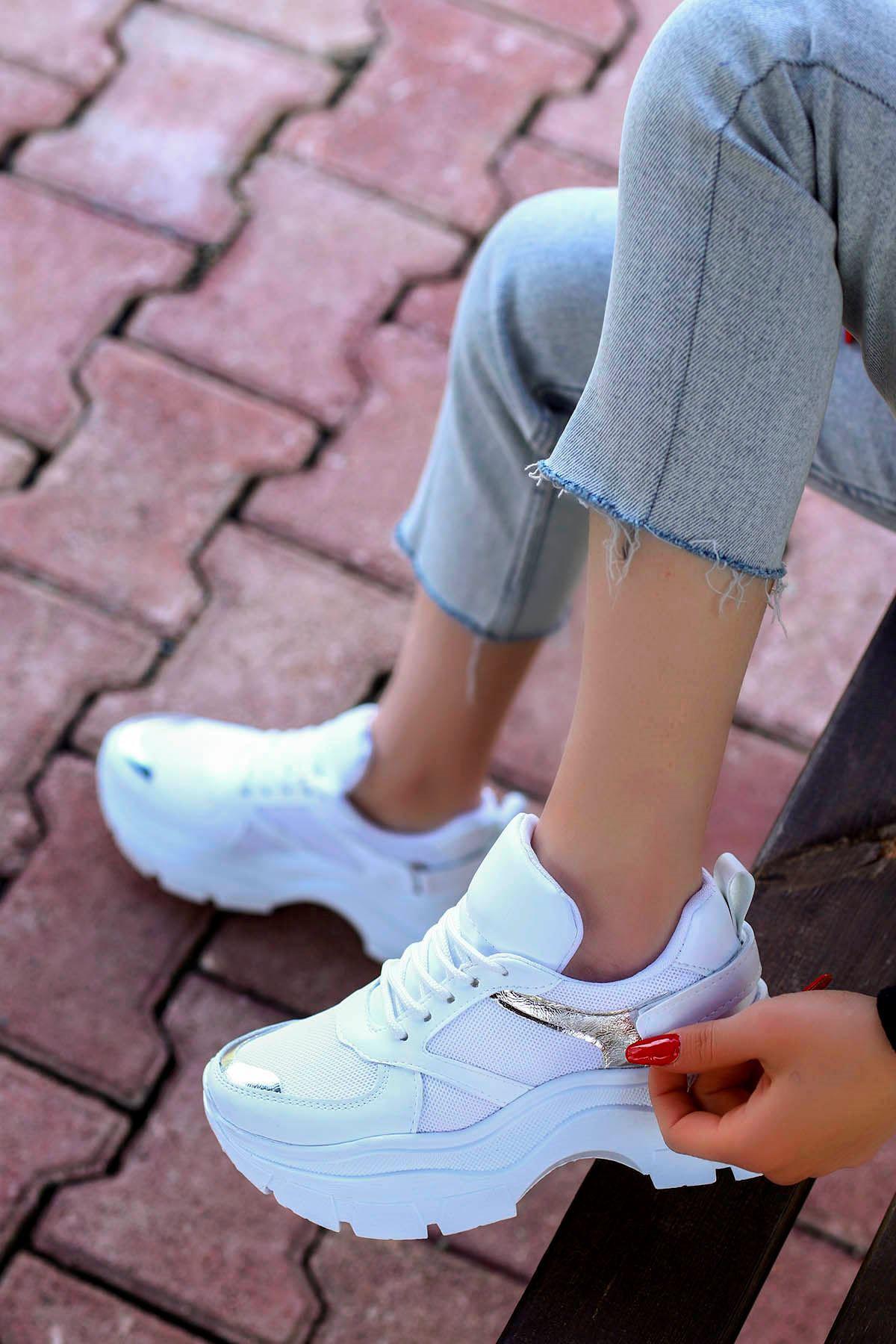 Alberto Tabanlı Spor Ayakkabı Beyaz