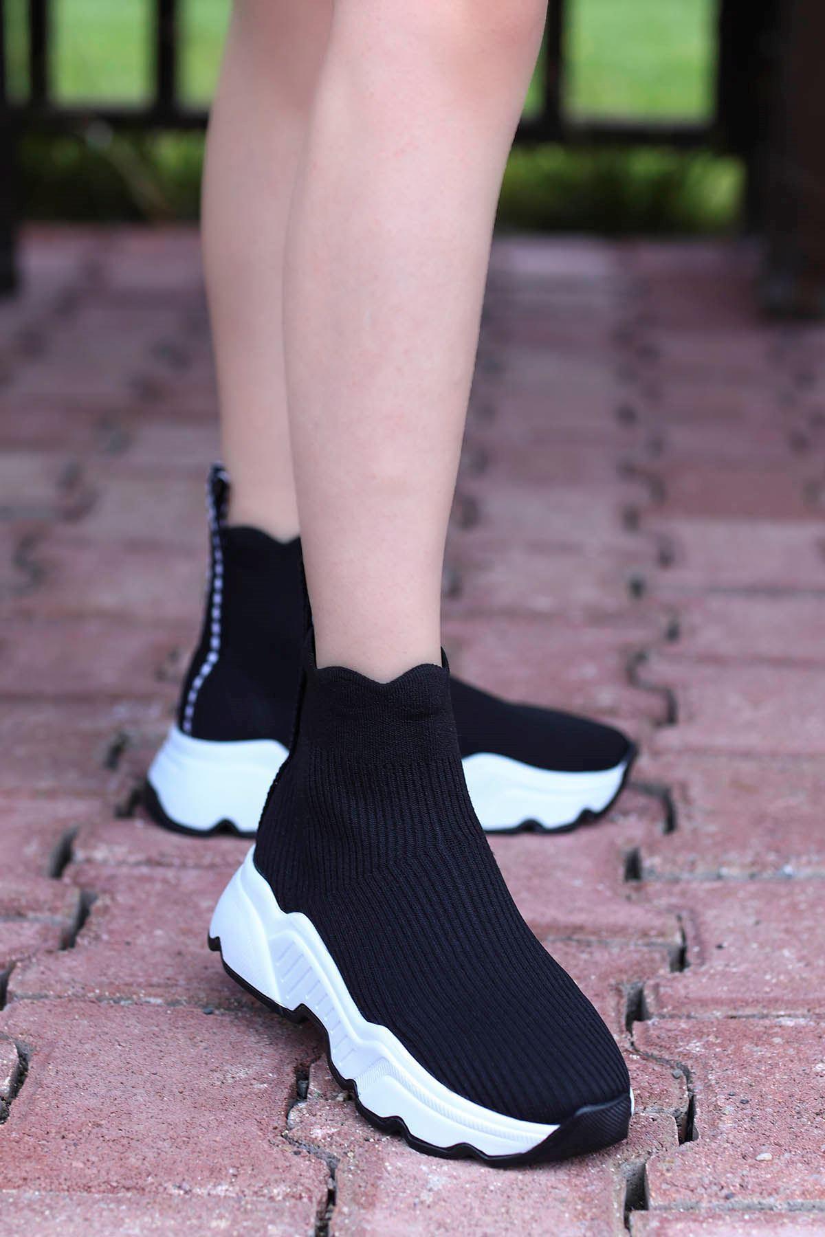 Frm-990 Triko Spor Ayakkabı Siyah
