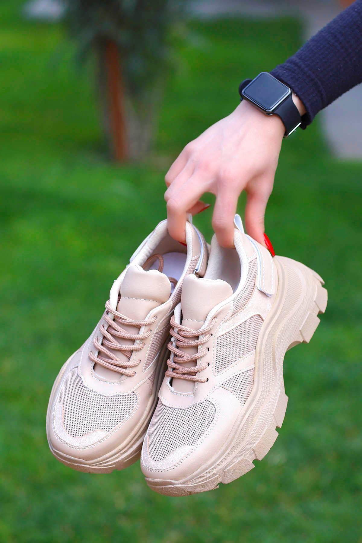 Alberto Tabanlı Spor Ayakkabı Nut