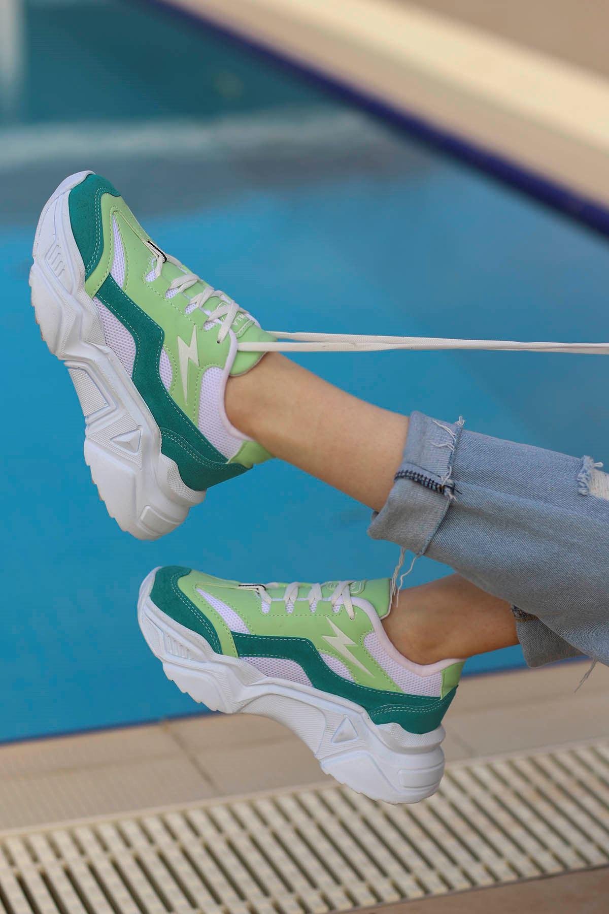 Rosse-Spor Ayakkabı Turkuaz Beyaz Taban