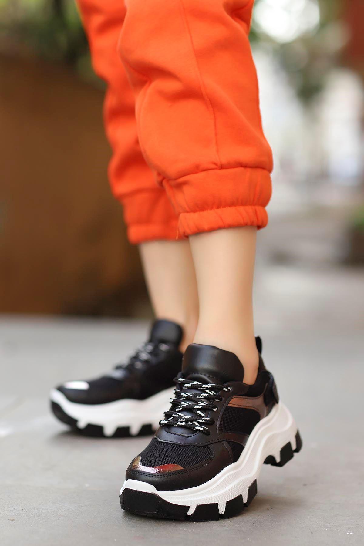 Alberto Tabanlı Spor Ayakkabı Siyah