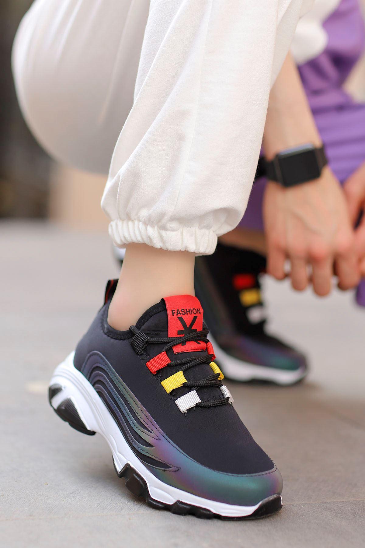 Napa Siyah Bağlı Sneakers