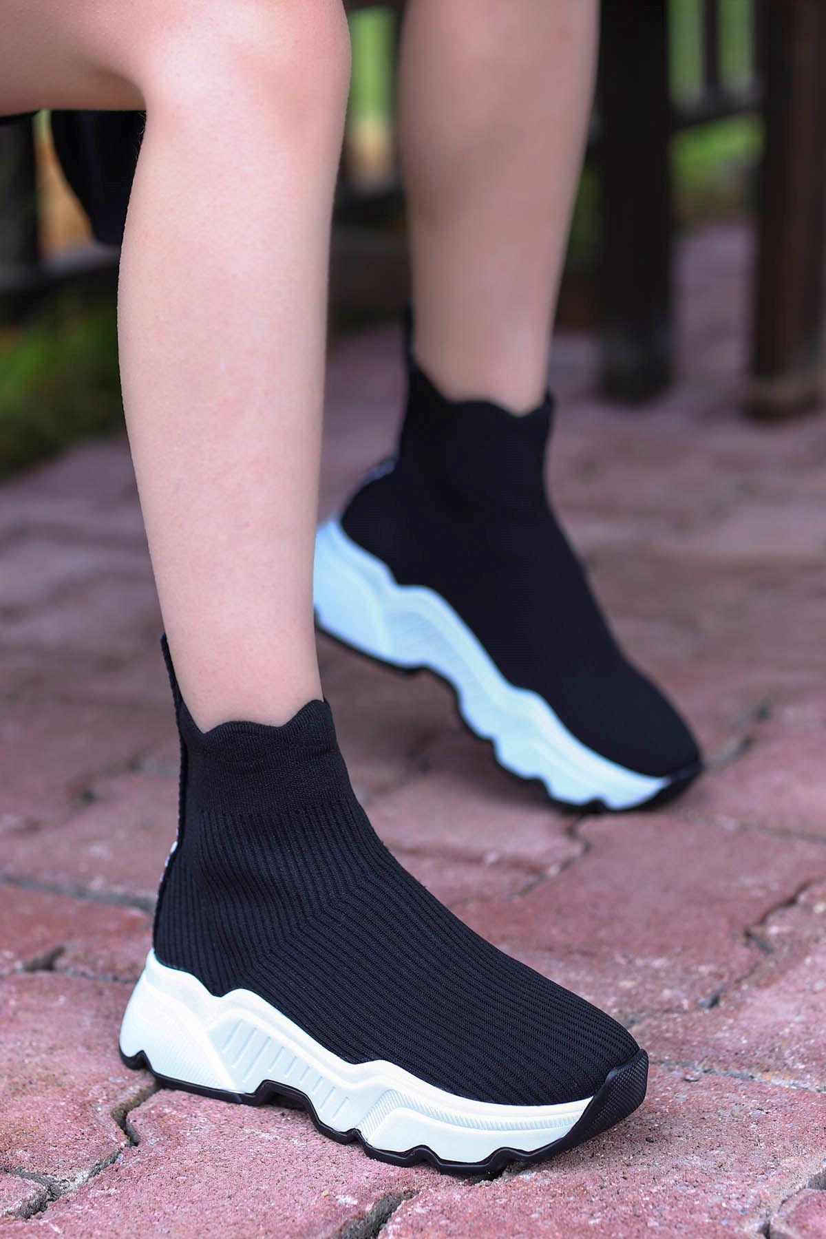 Tores Çorap Triko Spor Siyah