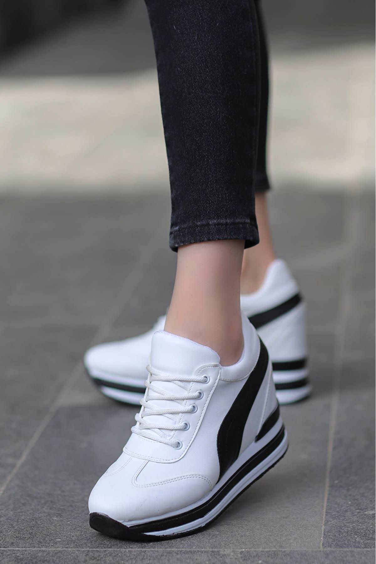 Rihanna Gizli Dolgu Spor Ayakkabı Beyaz