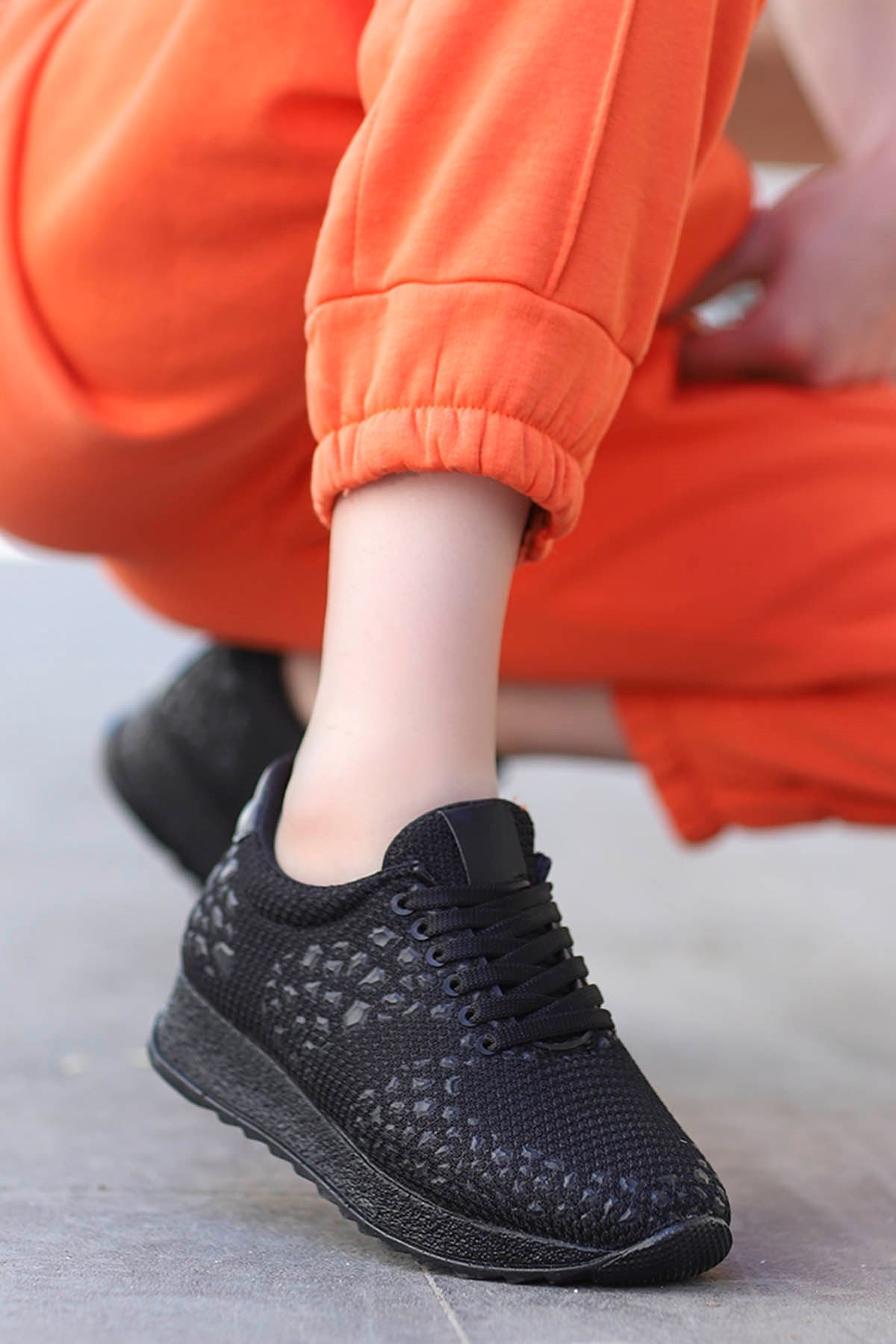 Della Siyah Triko Spor Ayakkabı