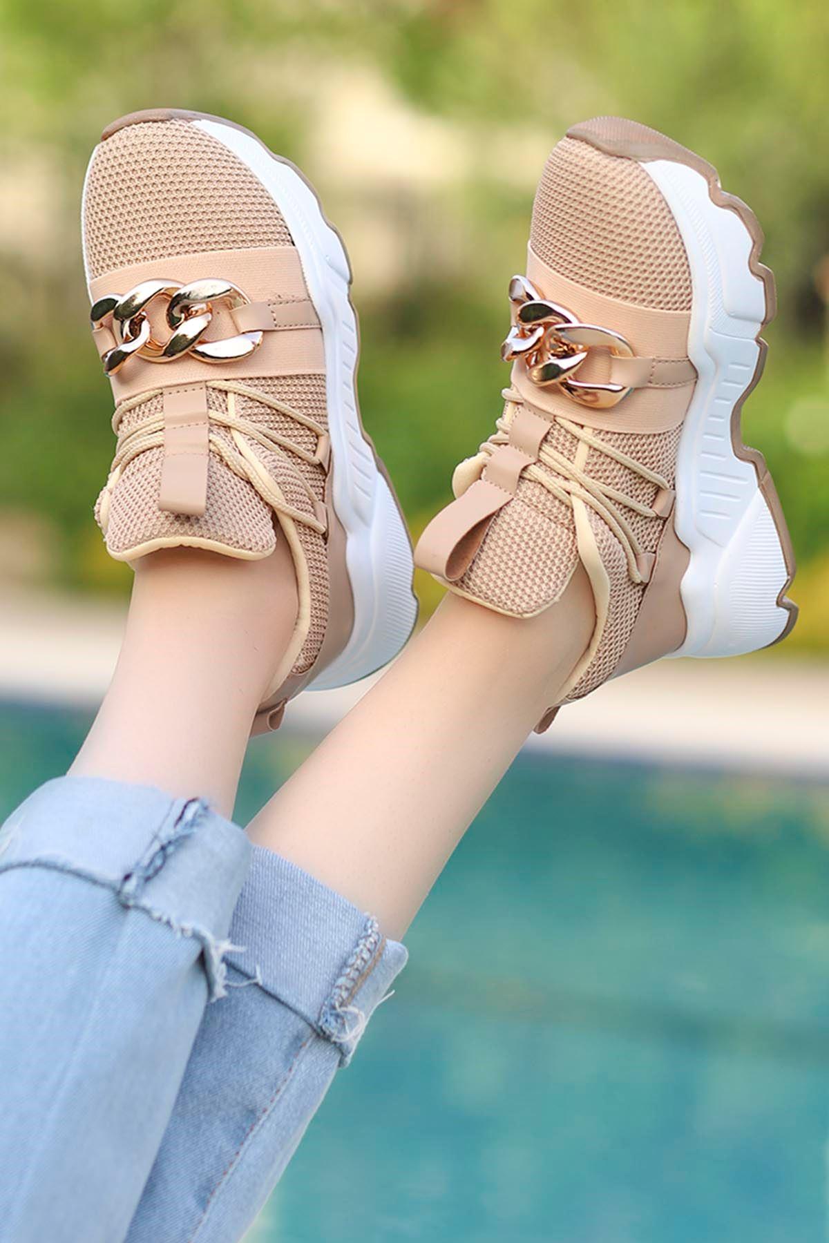 Edward Tokalı Günlük Sneakers Nud