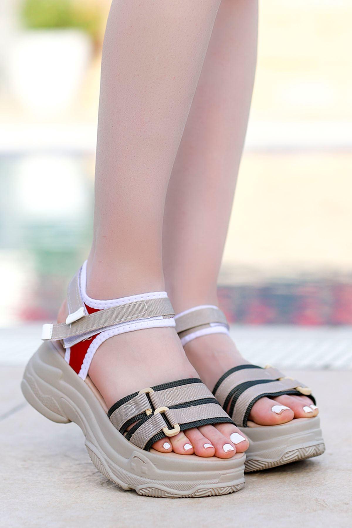 Hooly Dolgu Taban Sandalet Nud