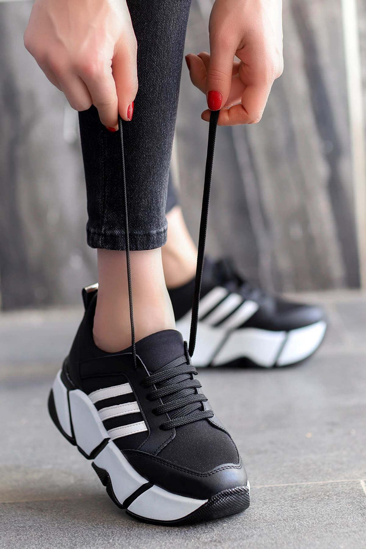 Elana Streç Spor Ayakkabı Siyah