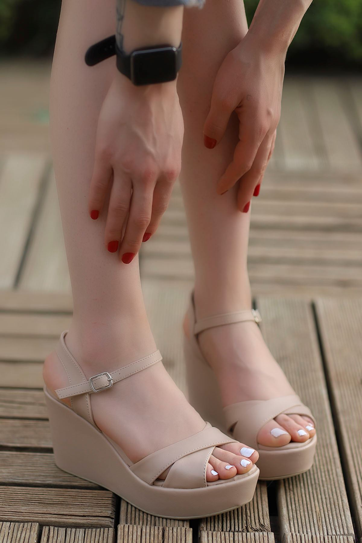 Jevel Dolgu Sandalet Vizyon