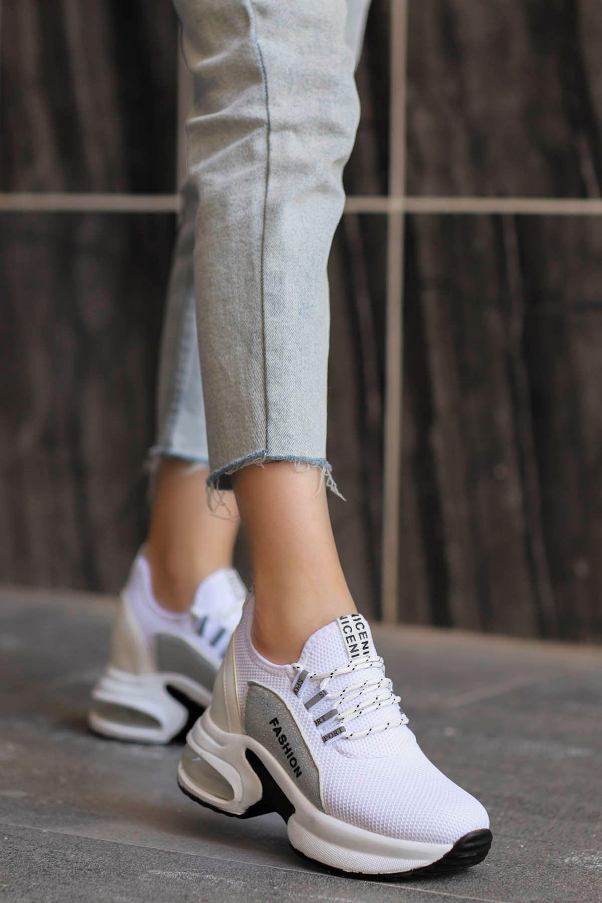 Frm-072 Air Taban Spor Ayakkabı Beyaz
