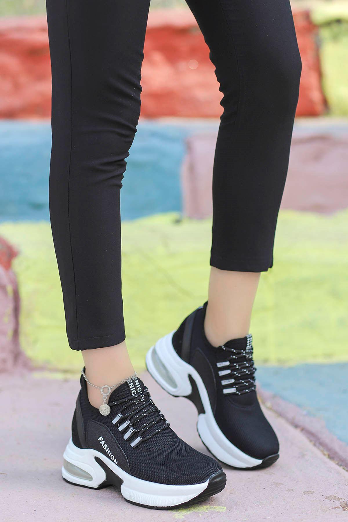 Frm-072 Air Taban Spor Ayakkabı Siyah